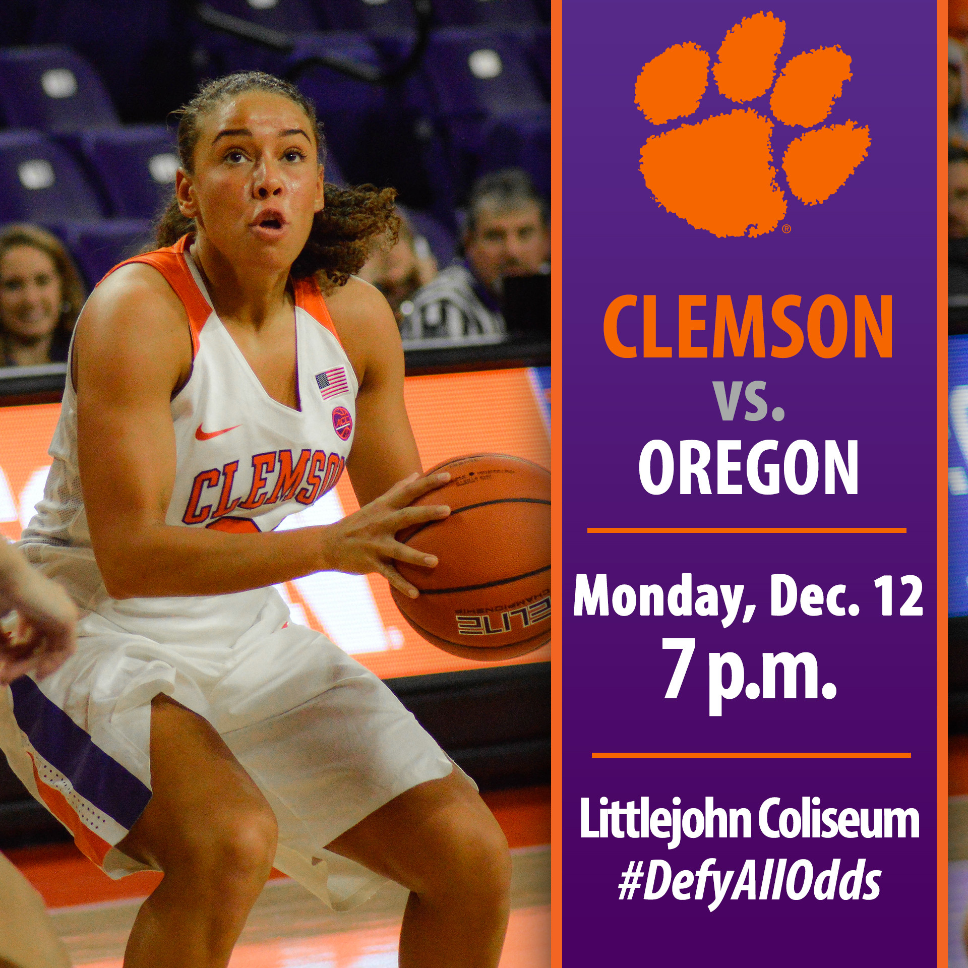 Tigers Face Oregon Monday at Littlejohn