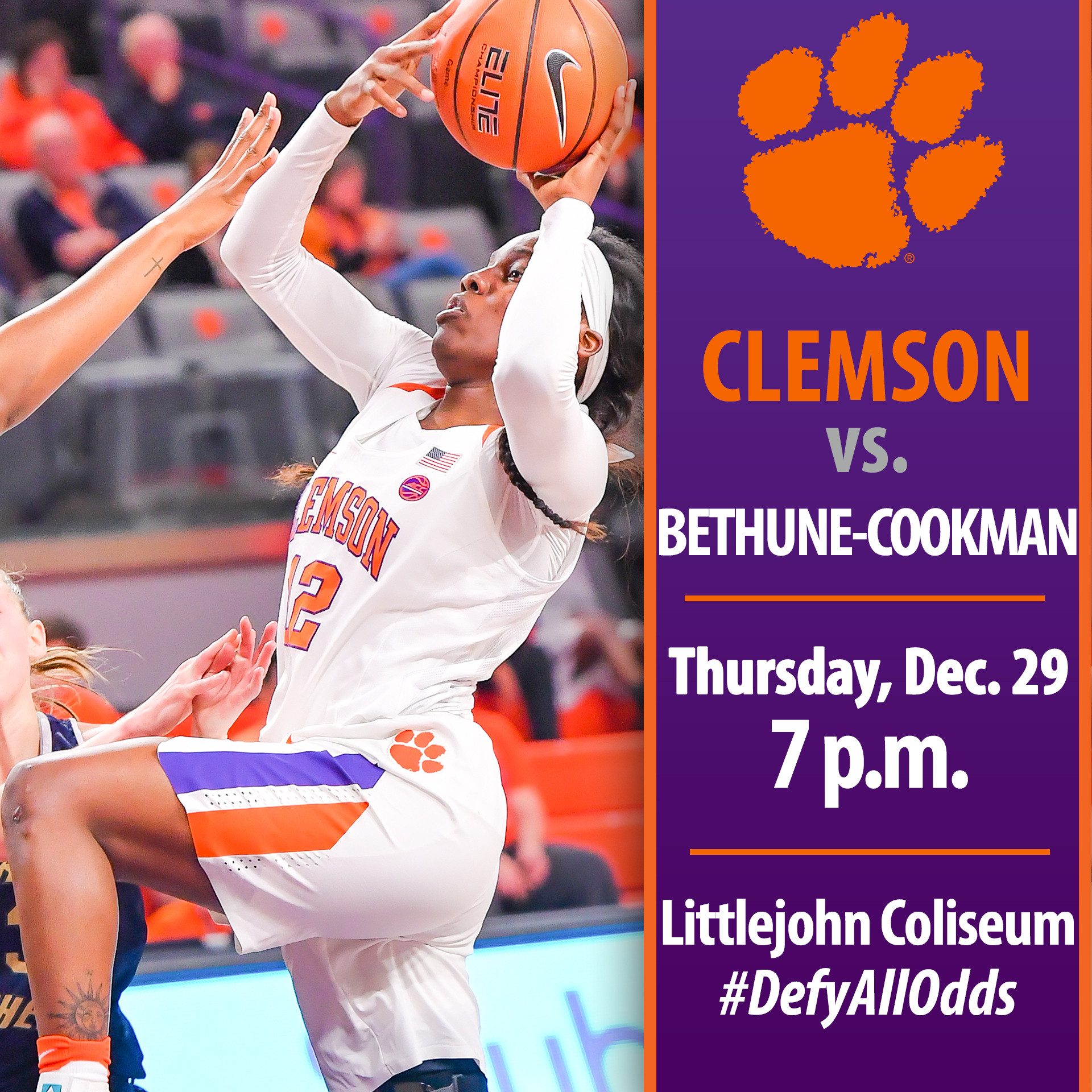 Tigers Host Bethune-Cookman in Final Nonconference Game Thursday
