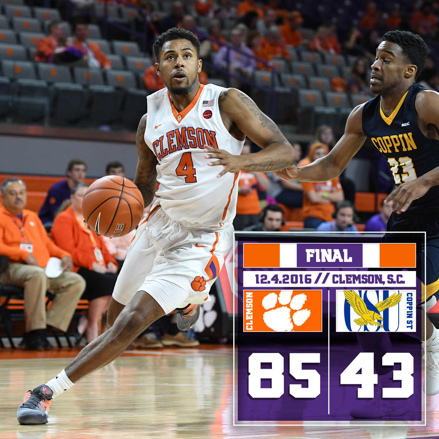 Tigers Blow Past Coppin State, 85-43