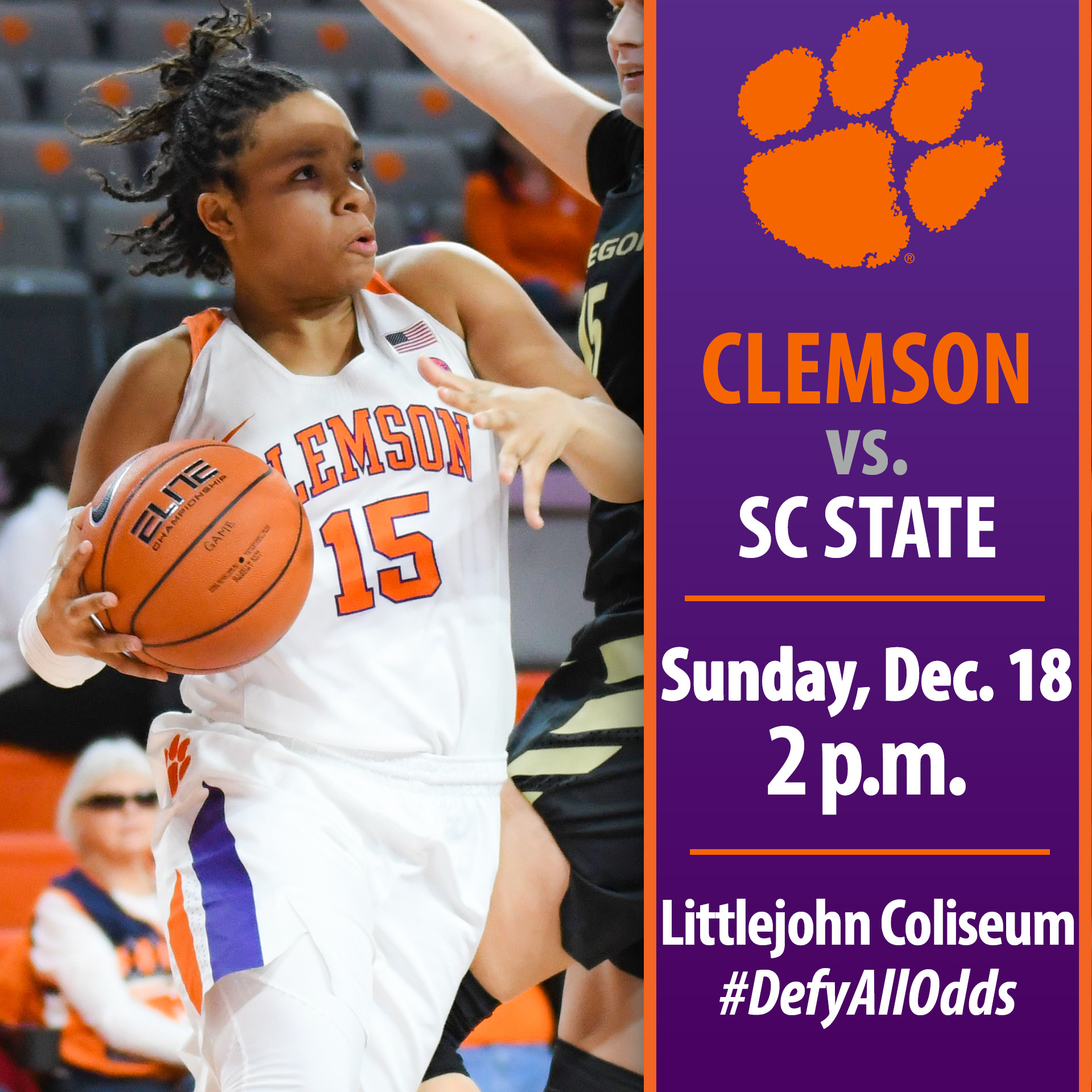 Tigers Host SC State in Sunday Matinee at Littlejohn