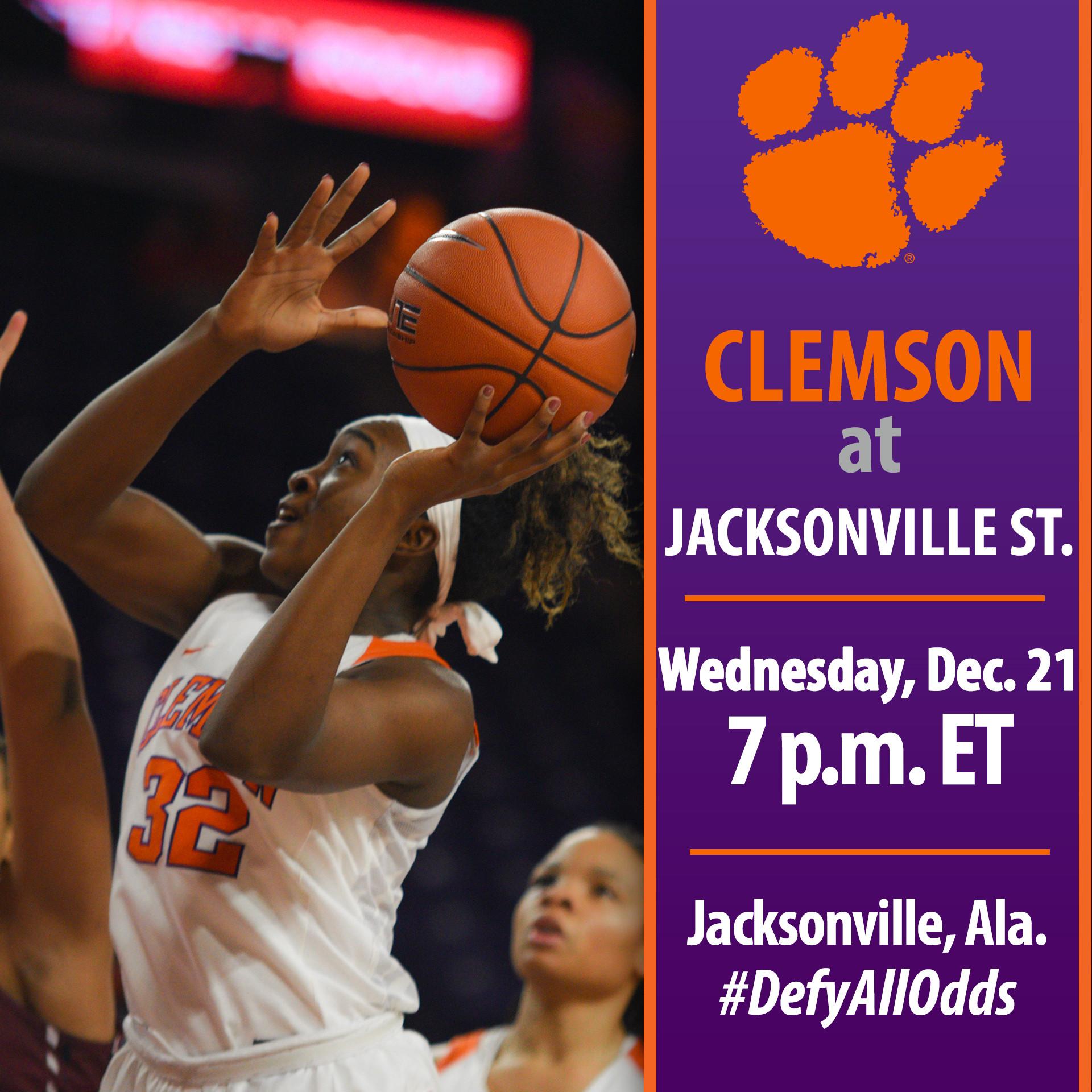 Clemson Travels to Alabama to Face Jacksonville State Wednesday