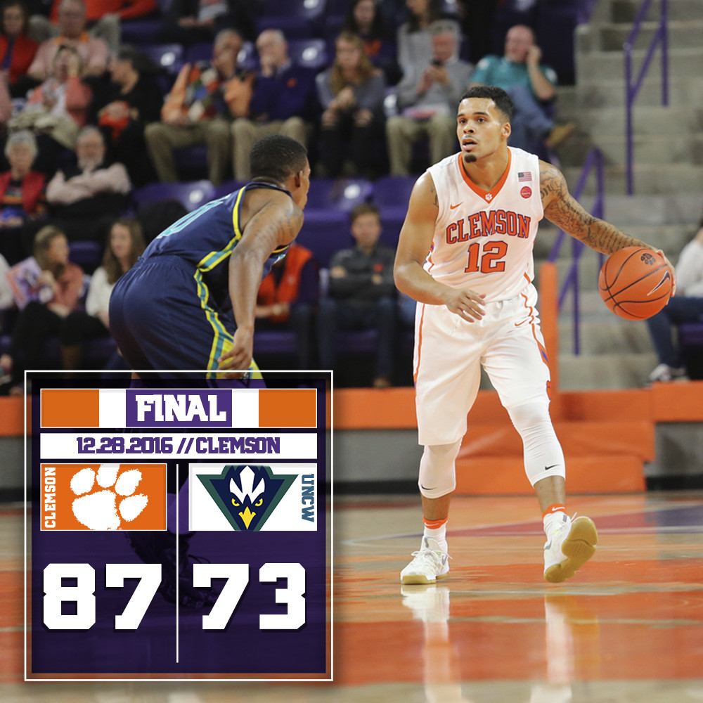 Tigers Win Eighth Straight, Beat UNCW 87-73