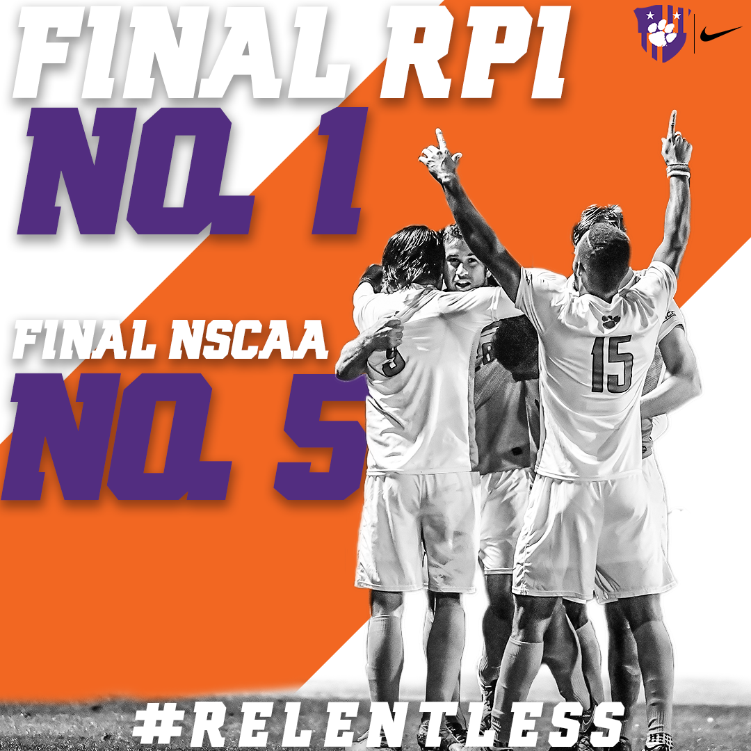 Clemson Ranked First in Final RPI Poll