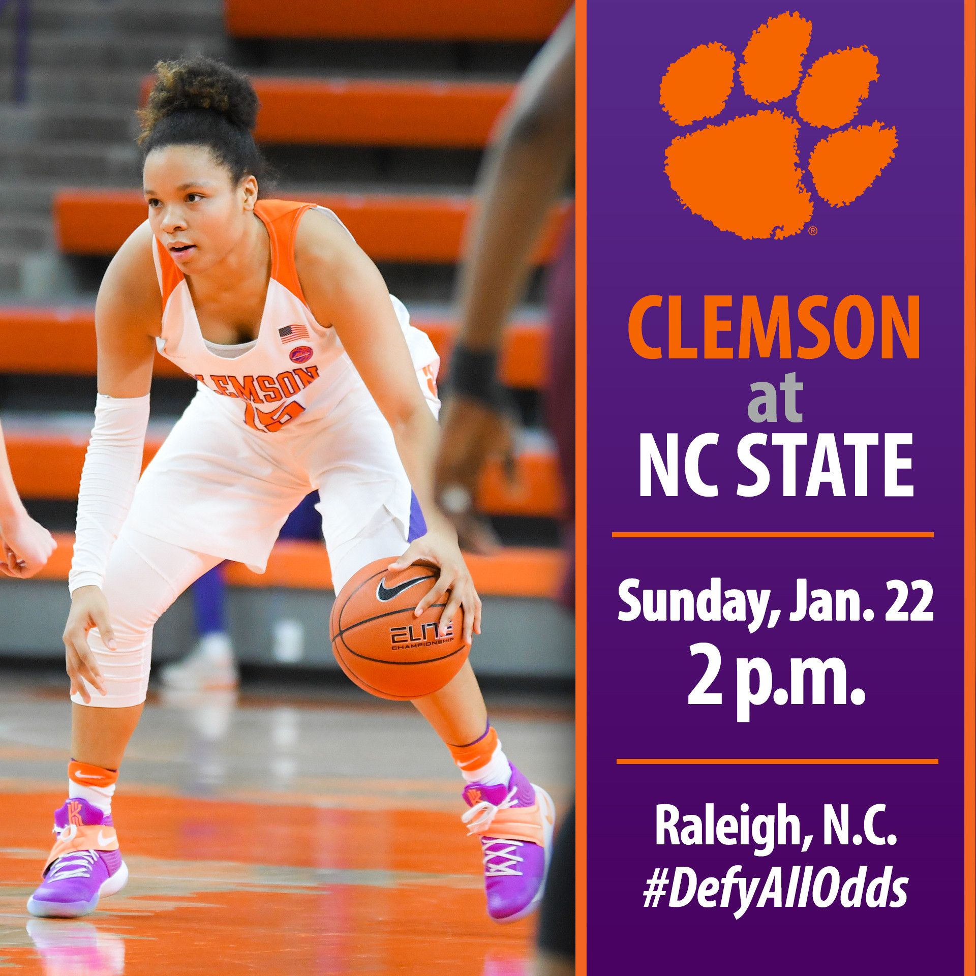 Clemson Travels to Raleigh to Face No. 21/21 NC State Sunday