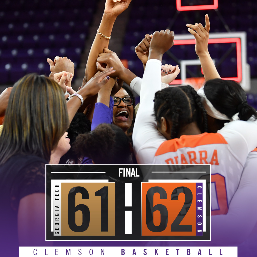 Collier's Gutsy Play Fuels Clemson's 62-61 Victory over Georgia Tech