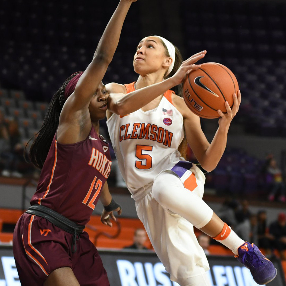 Clemson Battles, but No. 18/18 Virginia Tech Prevails, 78-69