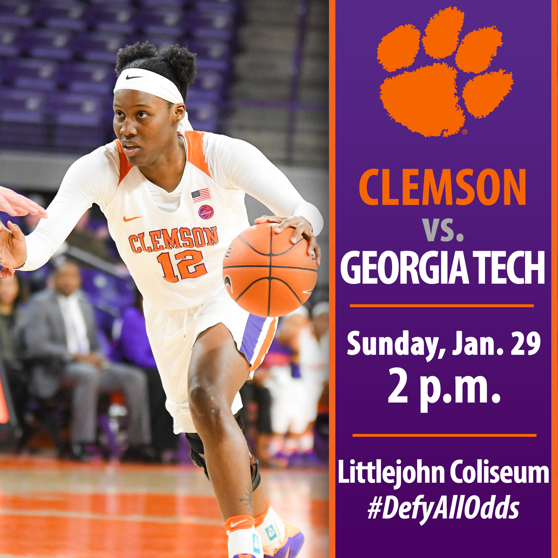 Clemson Hosts Georgia Tech Sunday