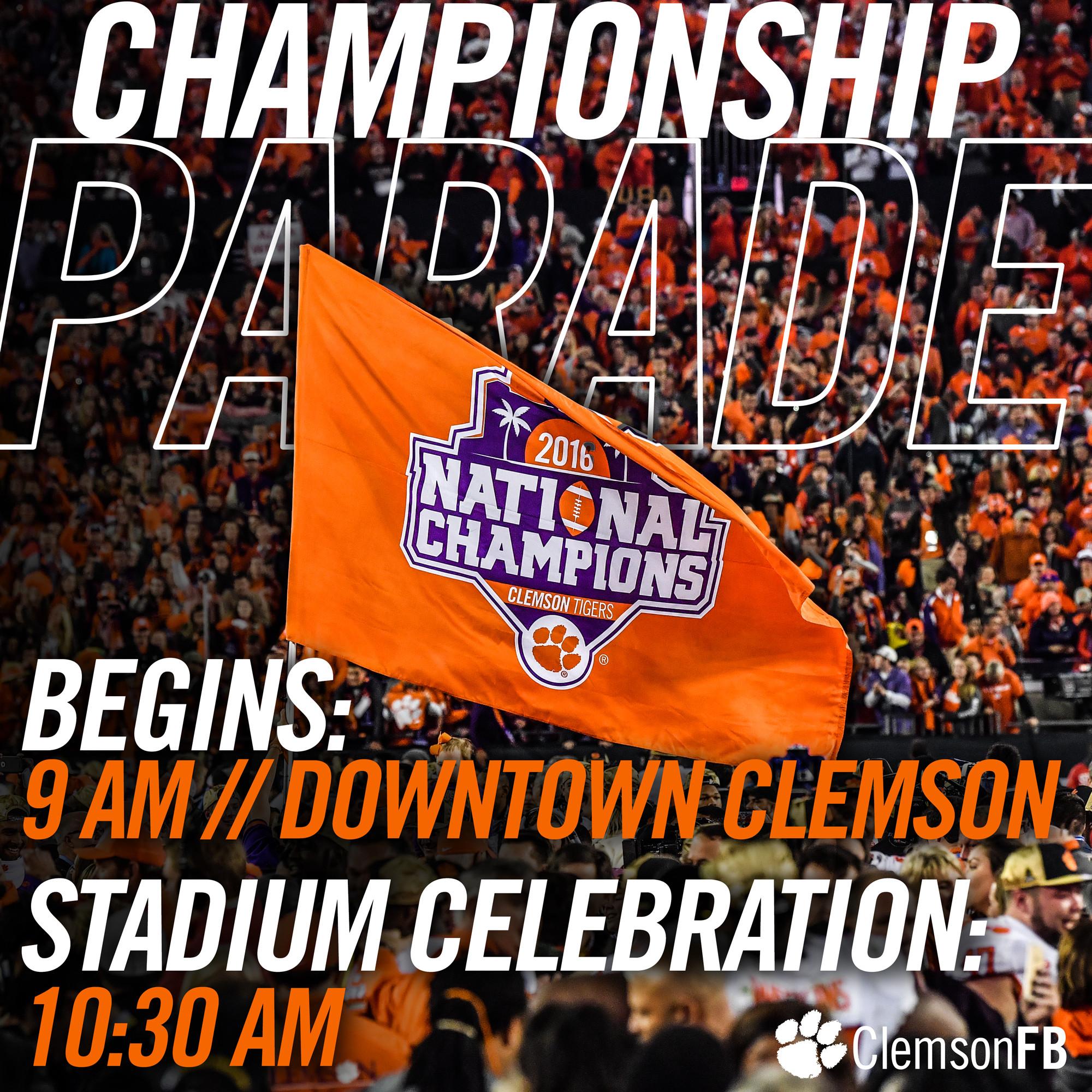 National Championship Celebration Details
