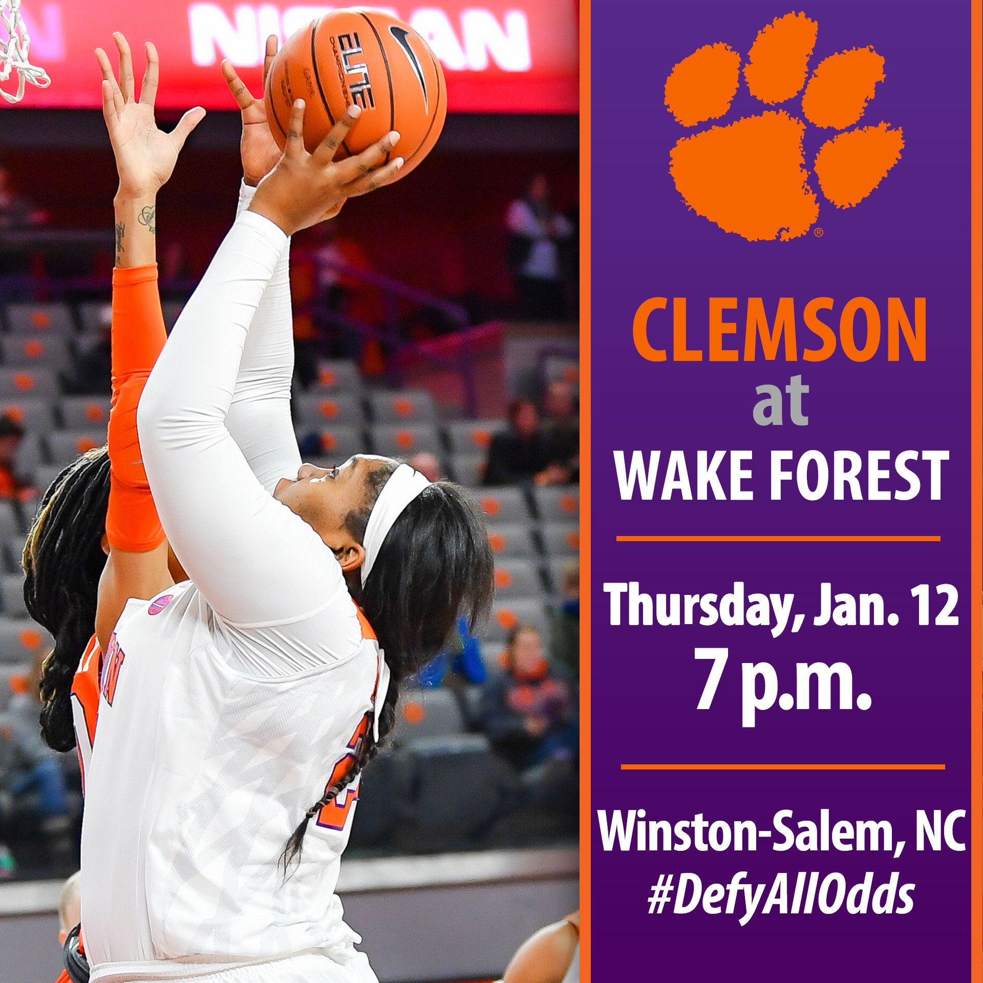 Tigers Face Wake Forest on the Road Thursday