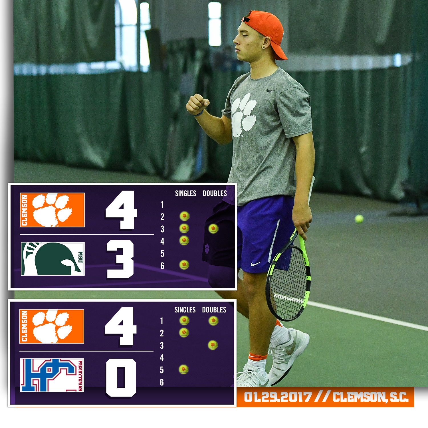 Tigers Improve to 7-0, Defeat Michigan State and Presbyterian