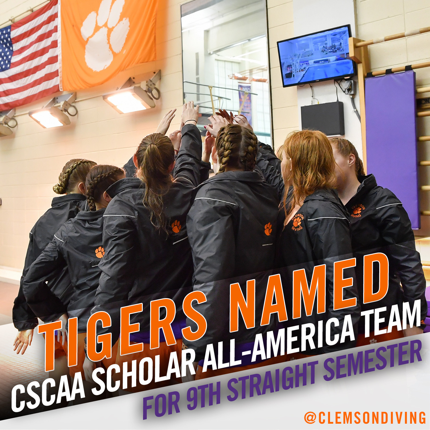 Clemson Earns CSCAA Scholar All-America Honors for Ninth Consecutive Semester