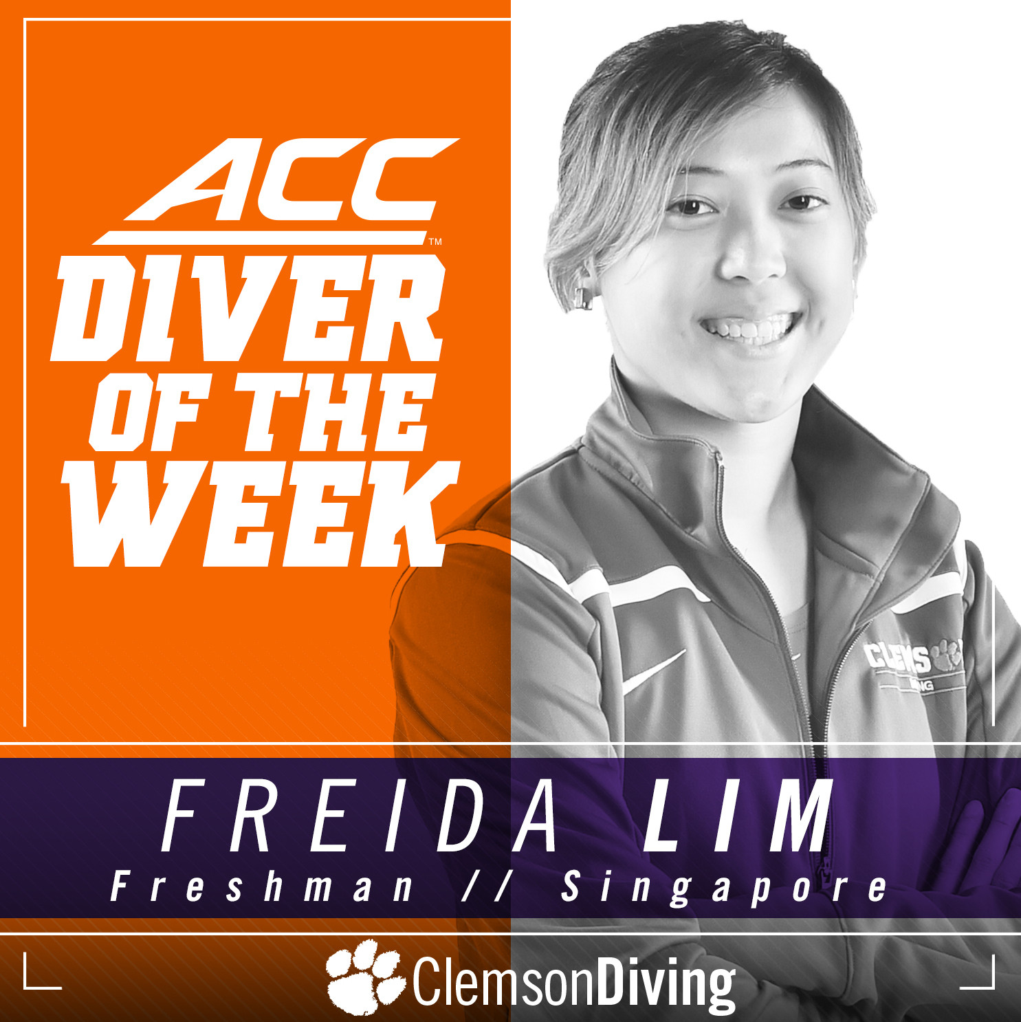 Lim Earns ACC Diver of the Week
