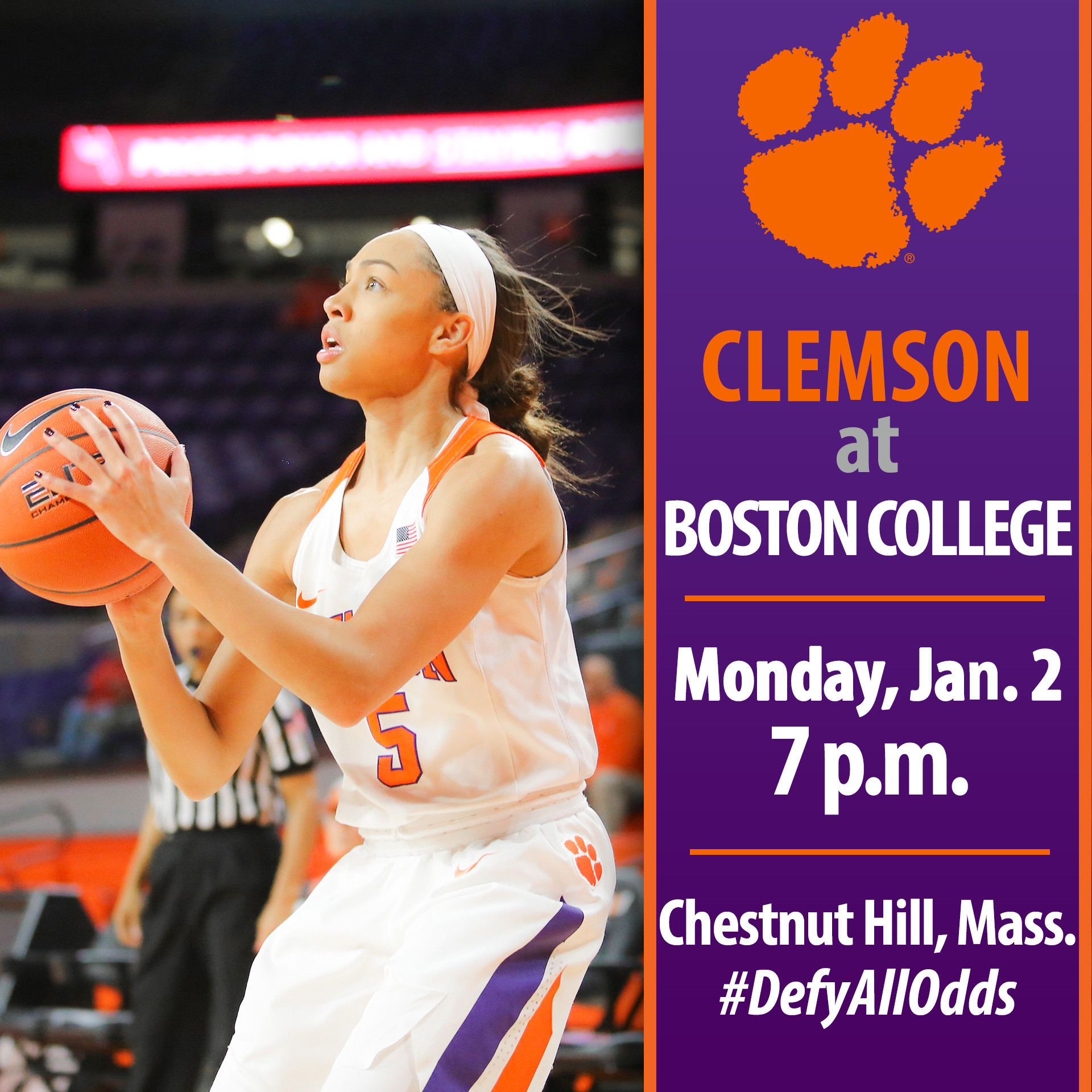 Clemson Travels to Chestnut Hill, Mass. for ACC Opener Monday