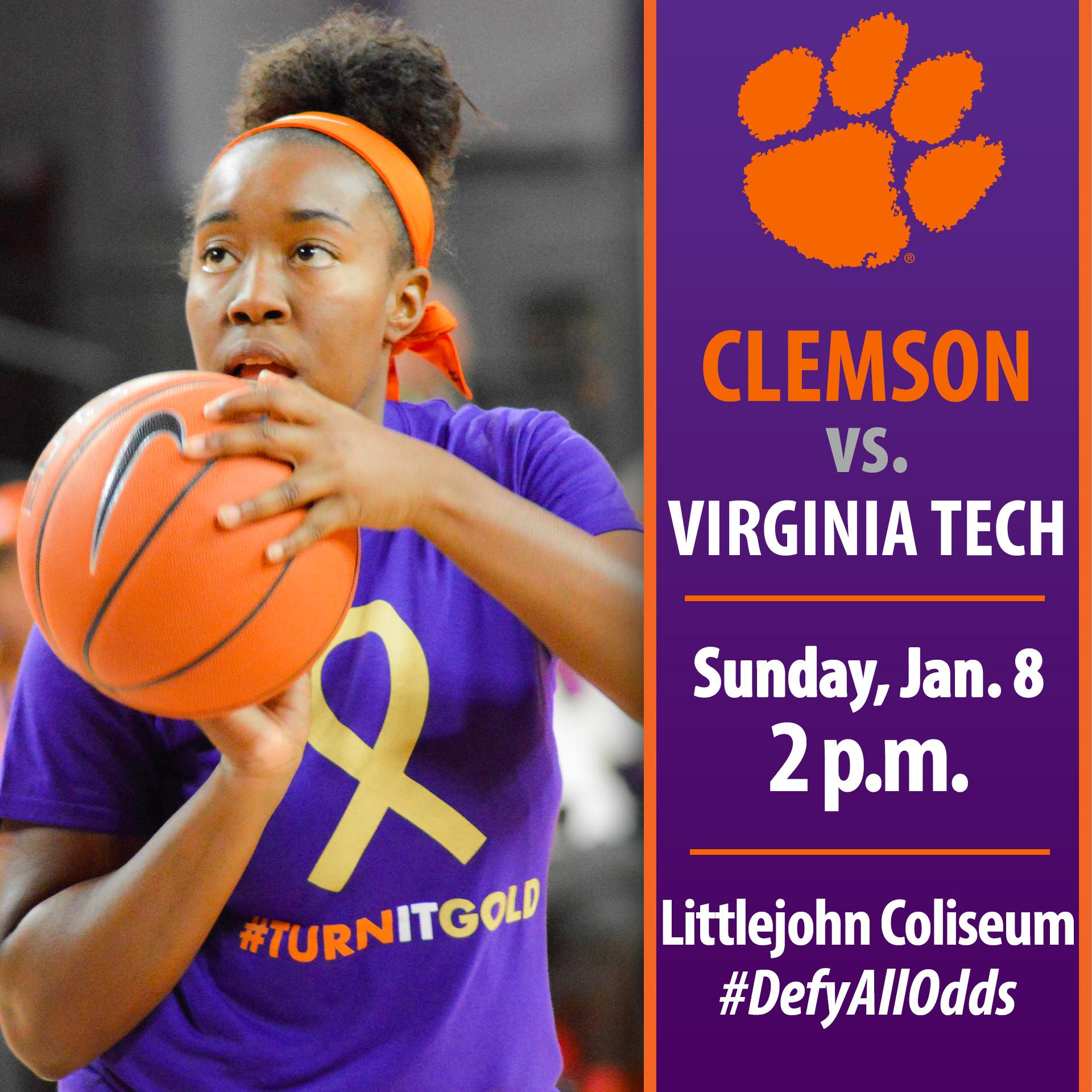 Clemson Hosts No. 18/18 Virginia Tech Sunday Afternoon