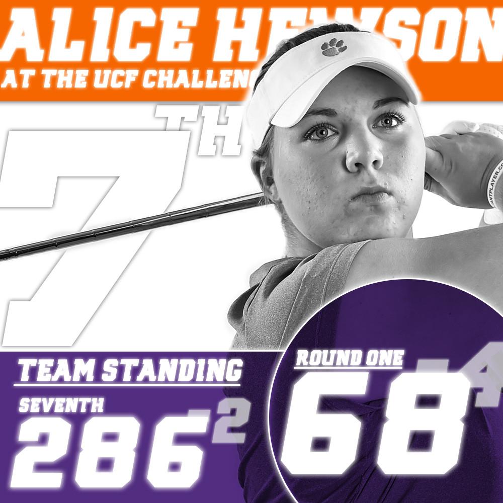 Hewson Leads Clemson in First Round at UCF Challenge