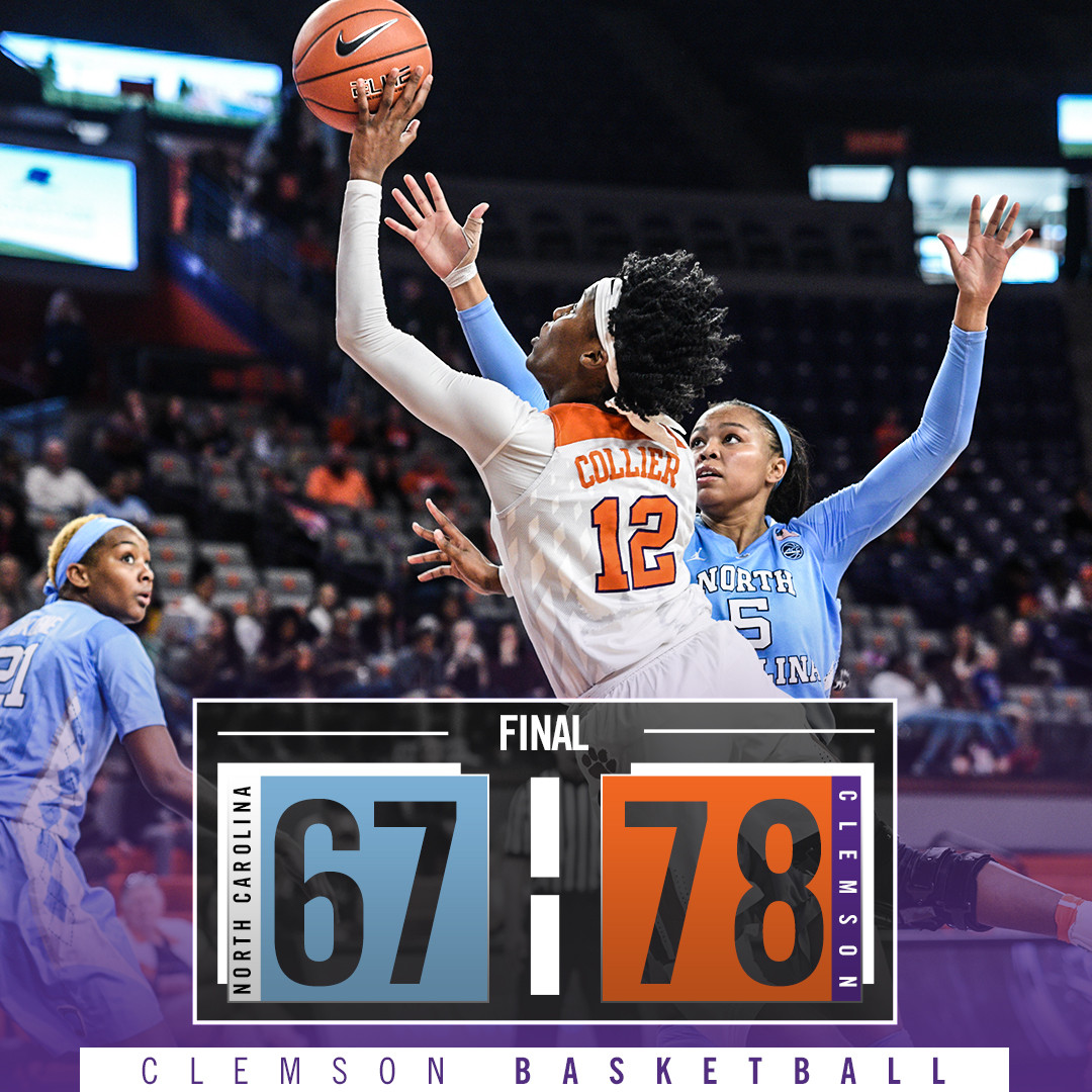 Collier & Thornton's Career Highs Push Clemson Past North Carolina Sunday