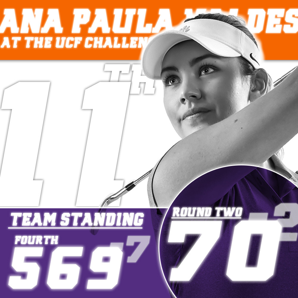 Clemson Improves to Fourth Place with Near Record Round
