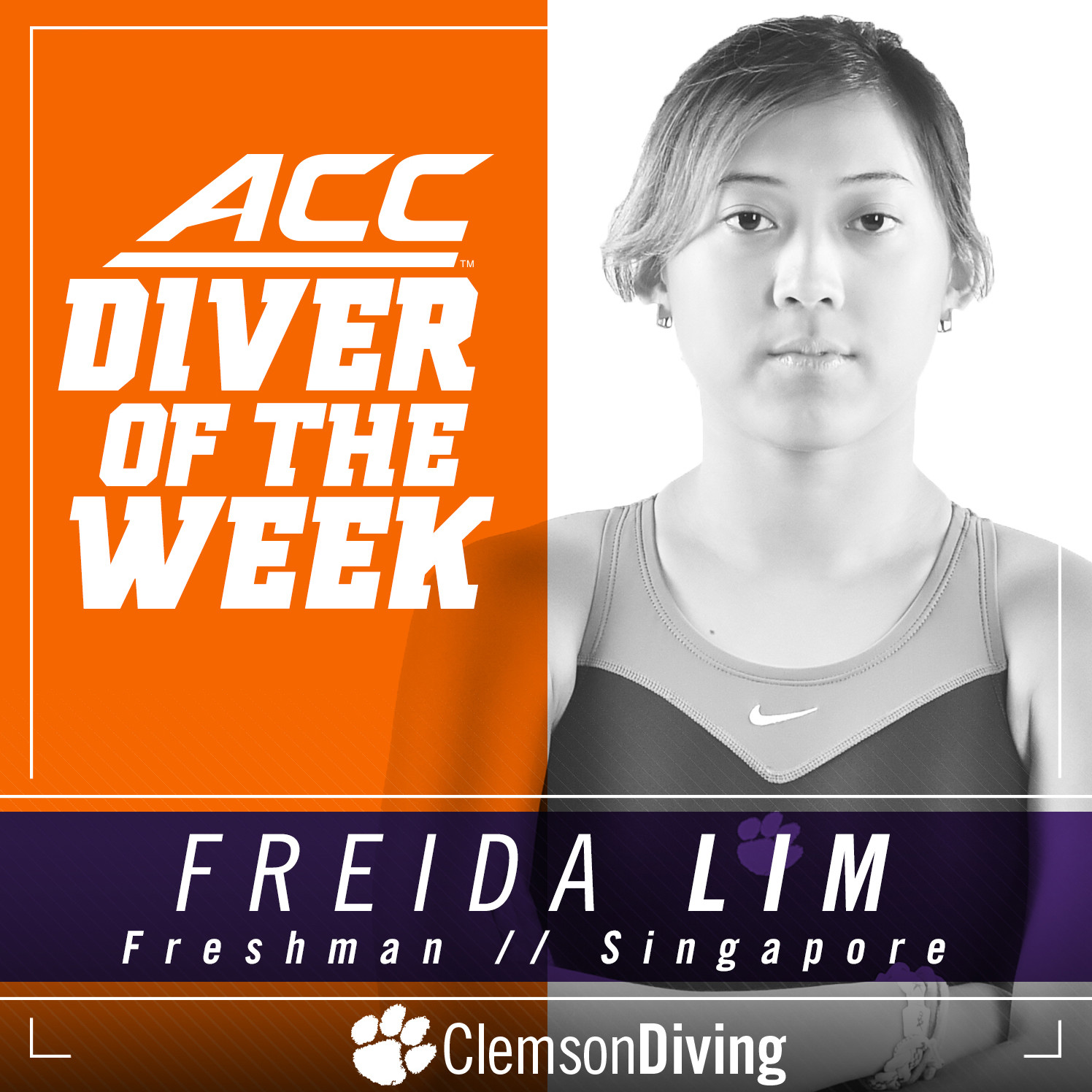 Lim Earns ACC Diver of the Week For Second Time