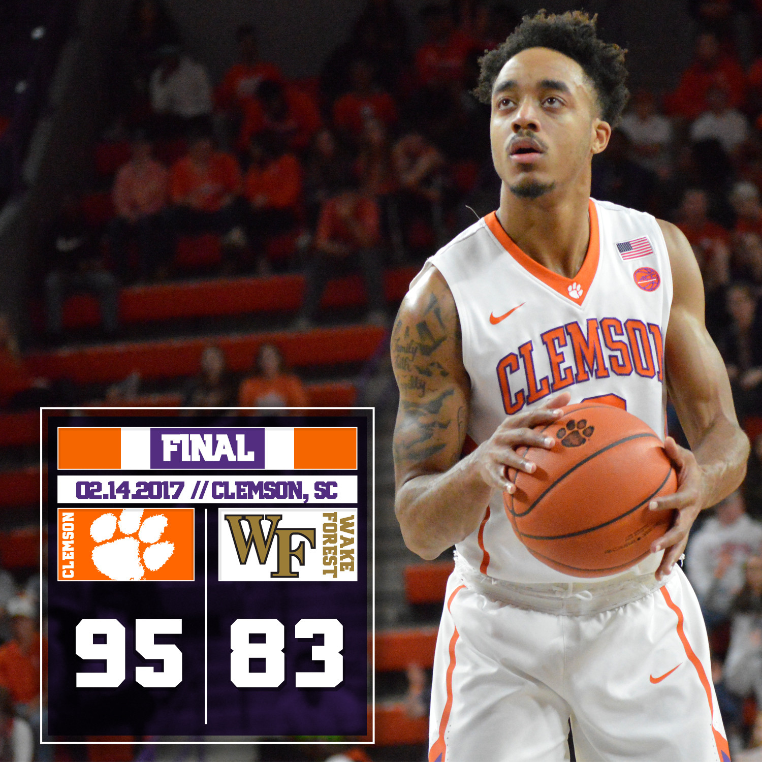 Tigers Sweep Wake Forest, Win 95-83