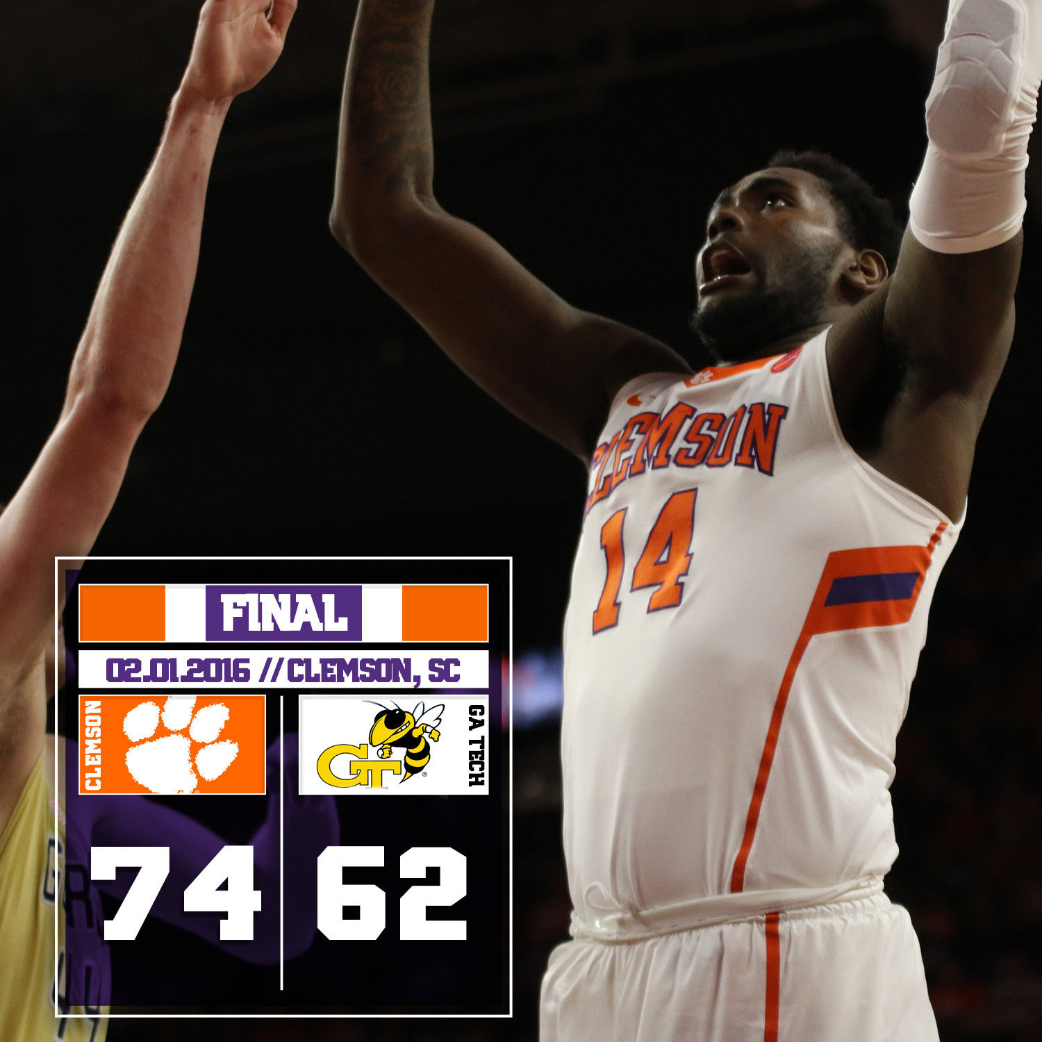 Tigers Beat Georgia Tech, 74-62