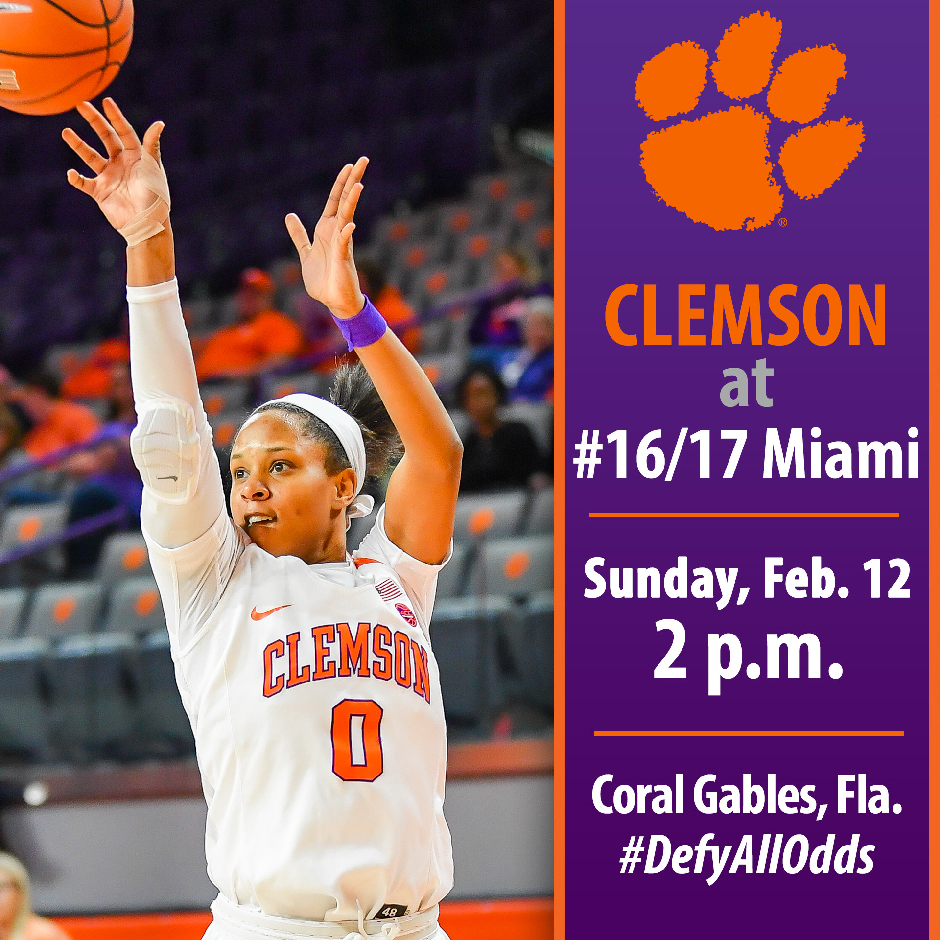Clemson Faces No. 16/17 Miami On the Road Sunday