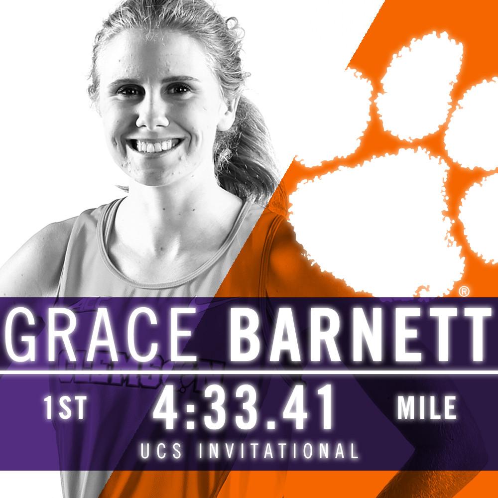 Barnett Improves Upon Program Record