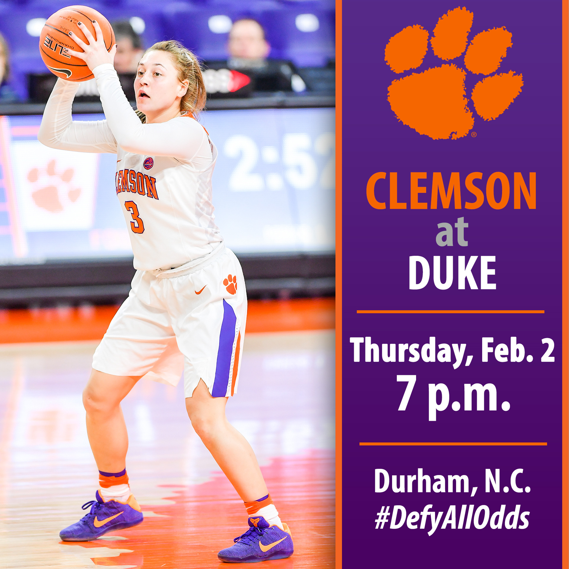 Tigers Travel to Durham to Face No. 15/15 Duke Thursday