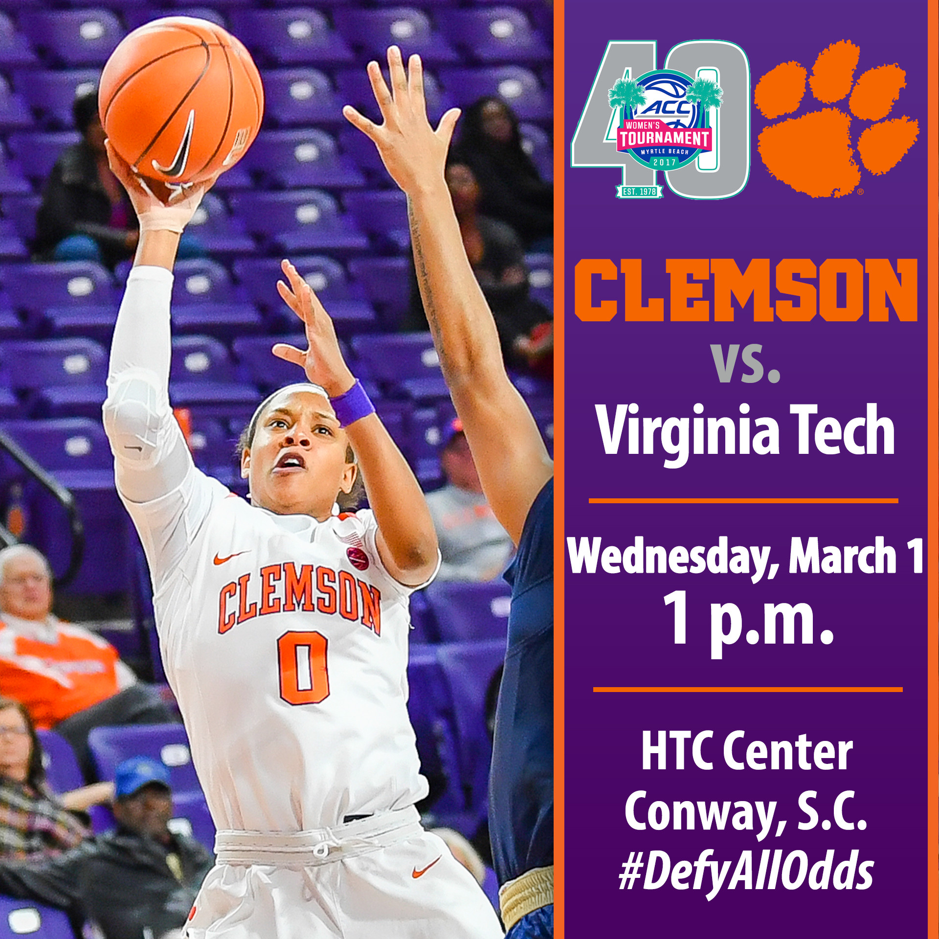 Clemson Faces Virginia Tech in ACC Tournament First Round Wednesday