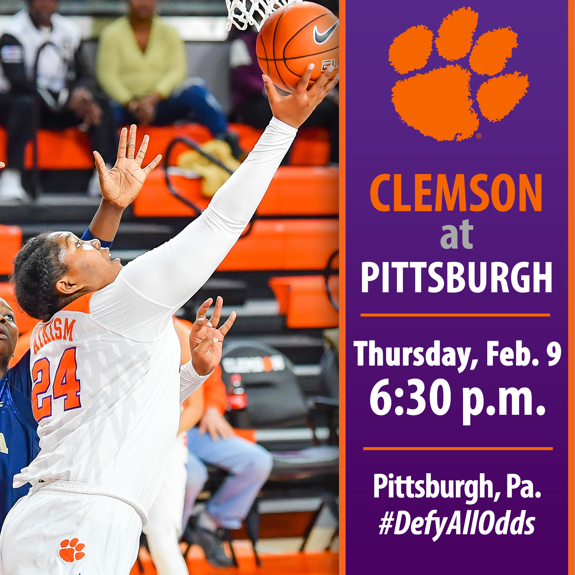 Clemson Travels to Pittsburgh to Face the Panthers Thursday