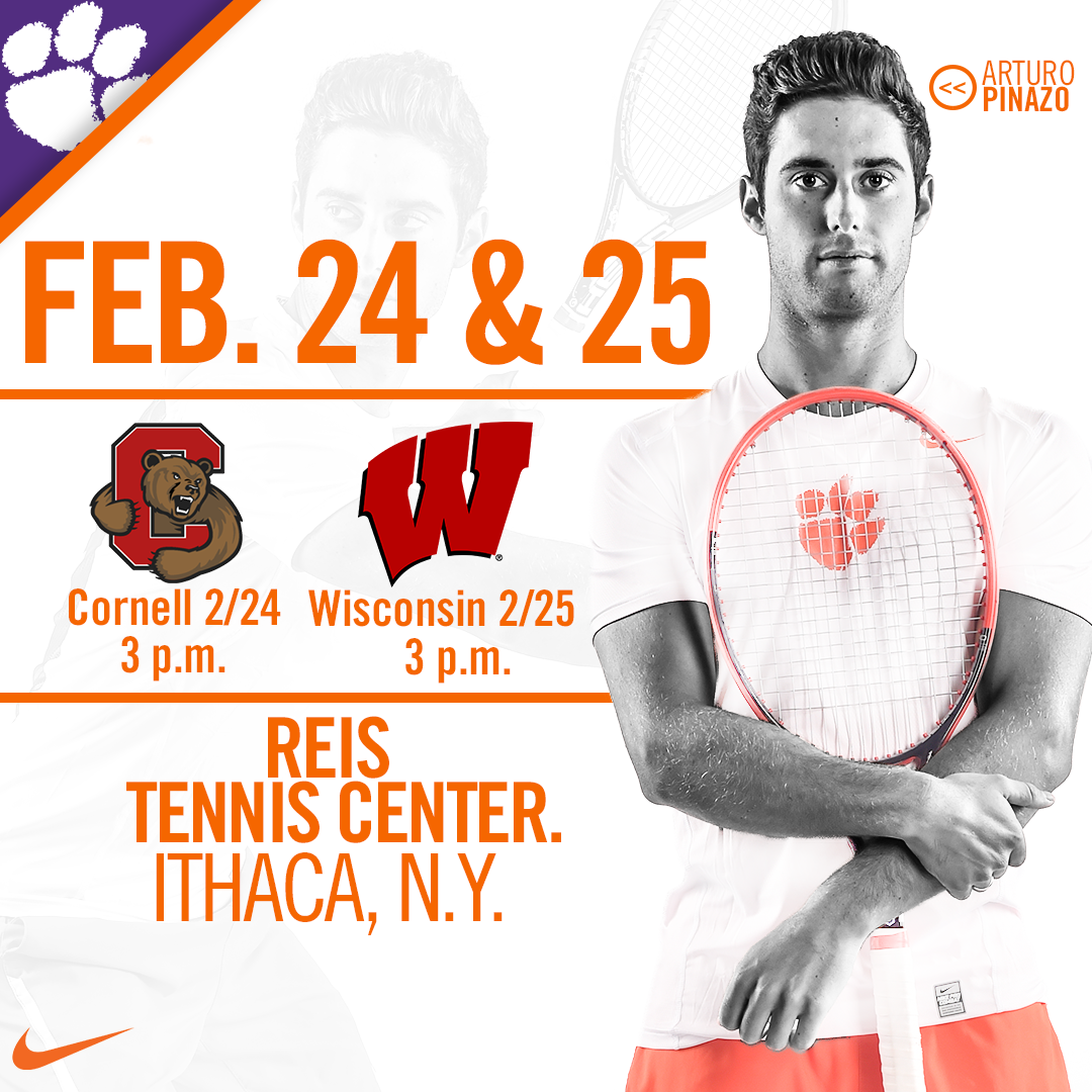 Clemson Heads North to Face Cornell and Wisconsin