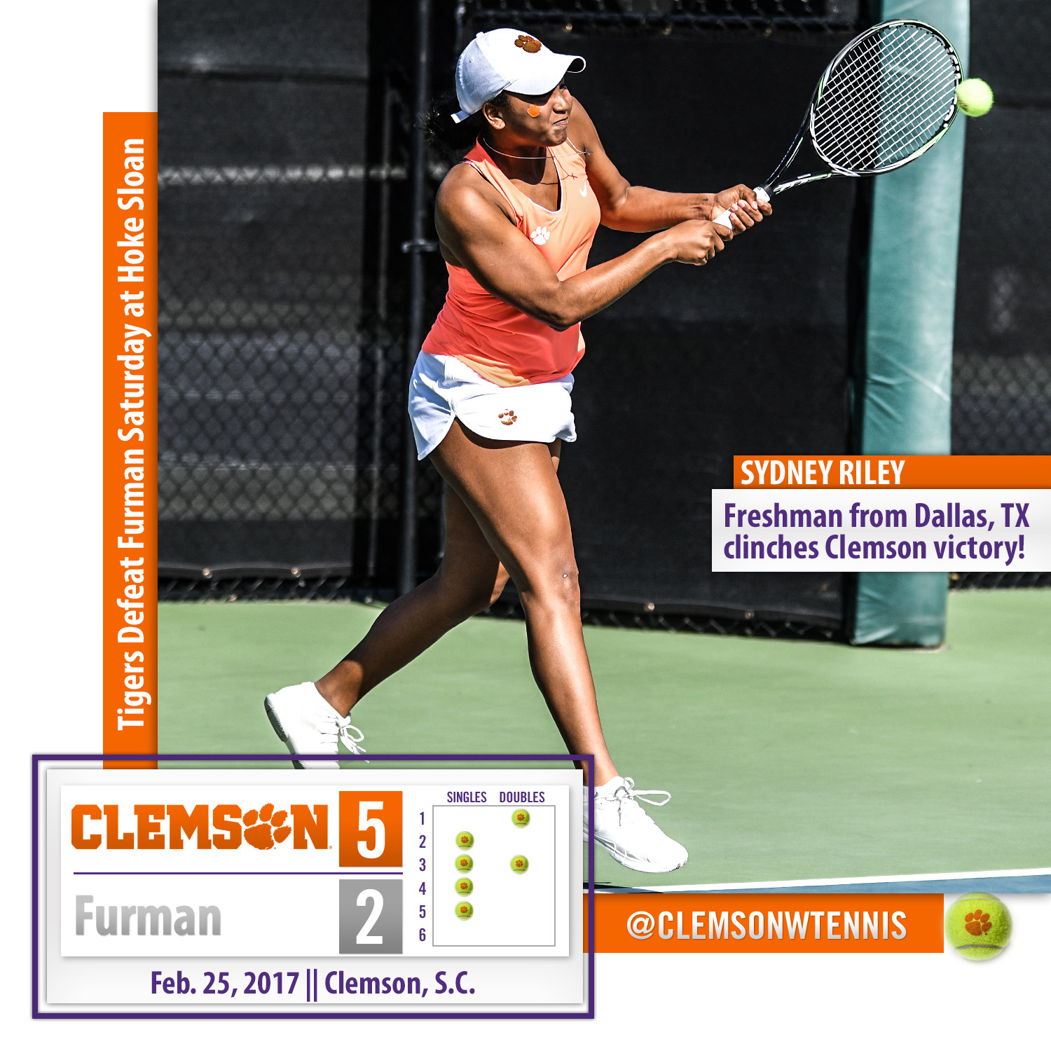 Tigers Defeat Furman 5-2 Saturday
