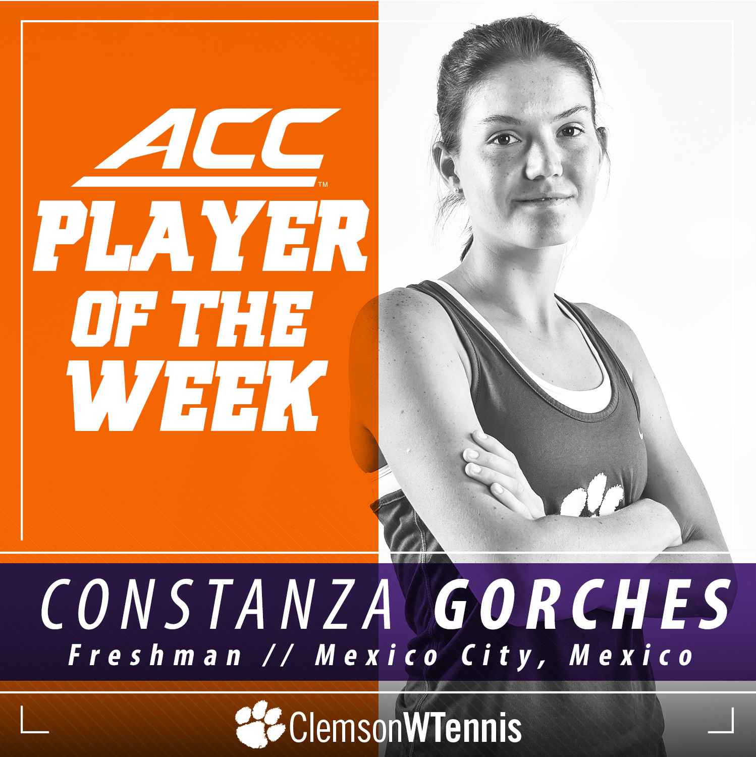 Gorches Earns ACC Player of the Week Honors