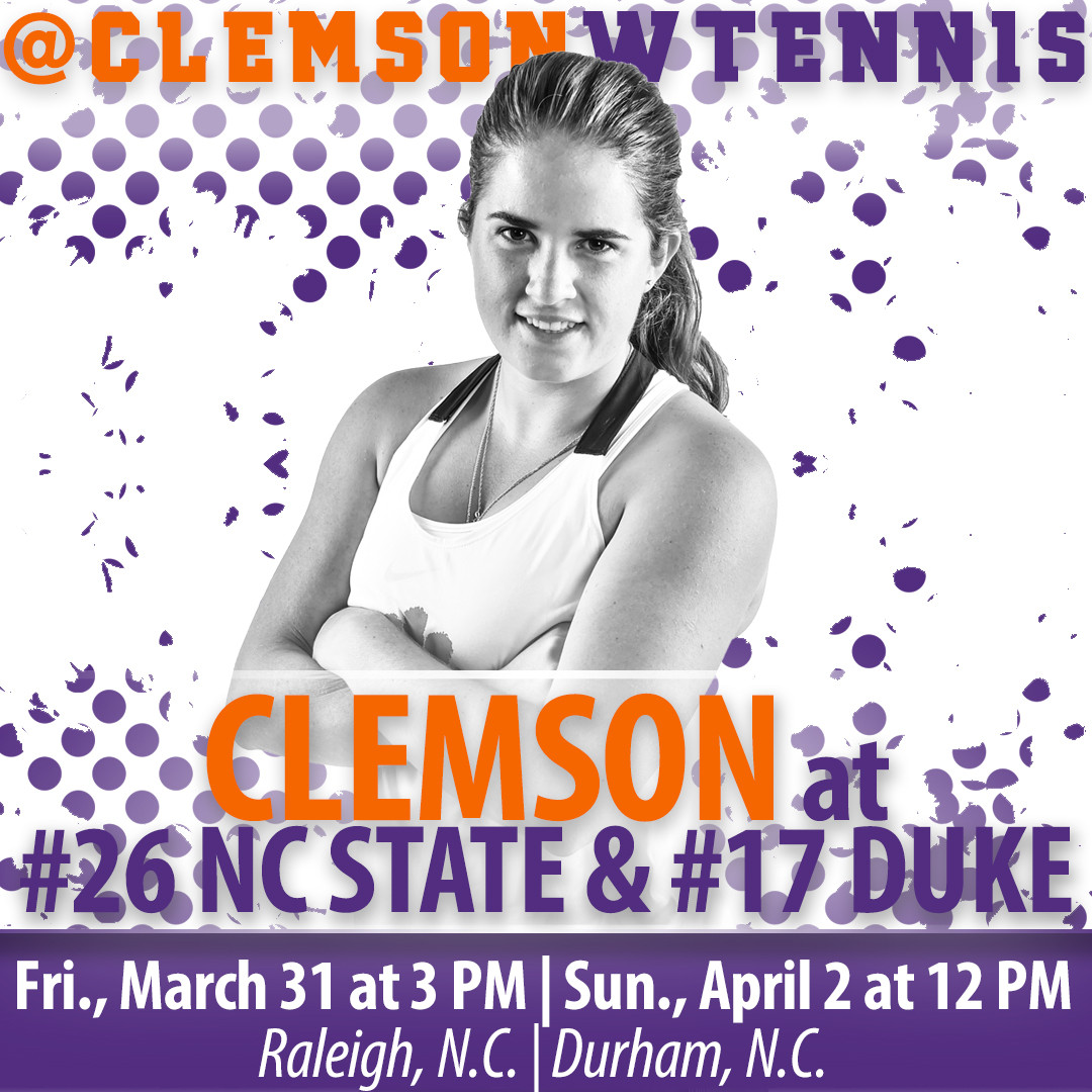 Tigers Travel for ACC Road Matches at NC State & Duke this Weekend