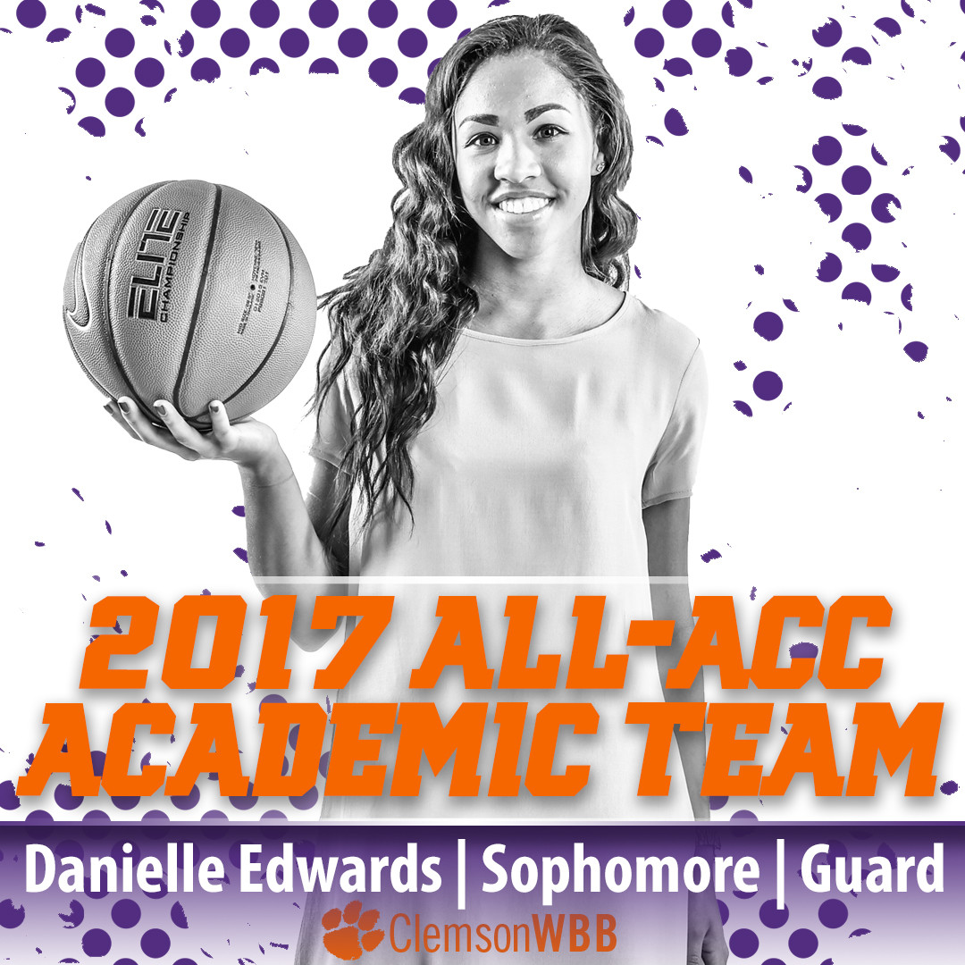 Edwards Named to All-ACC Academic Team for Second Consecutive Year