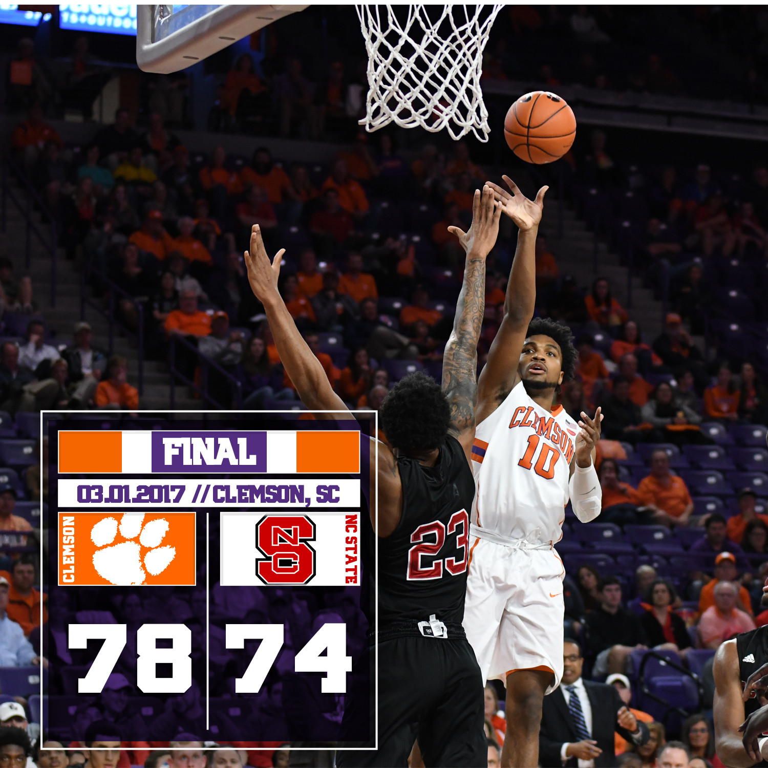 Tigers Top NC State, 78-74