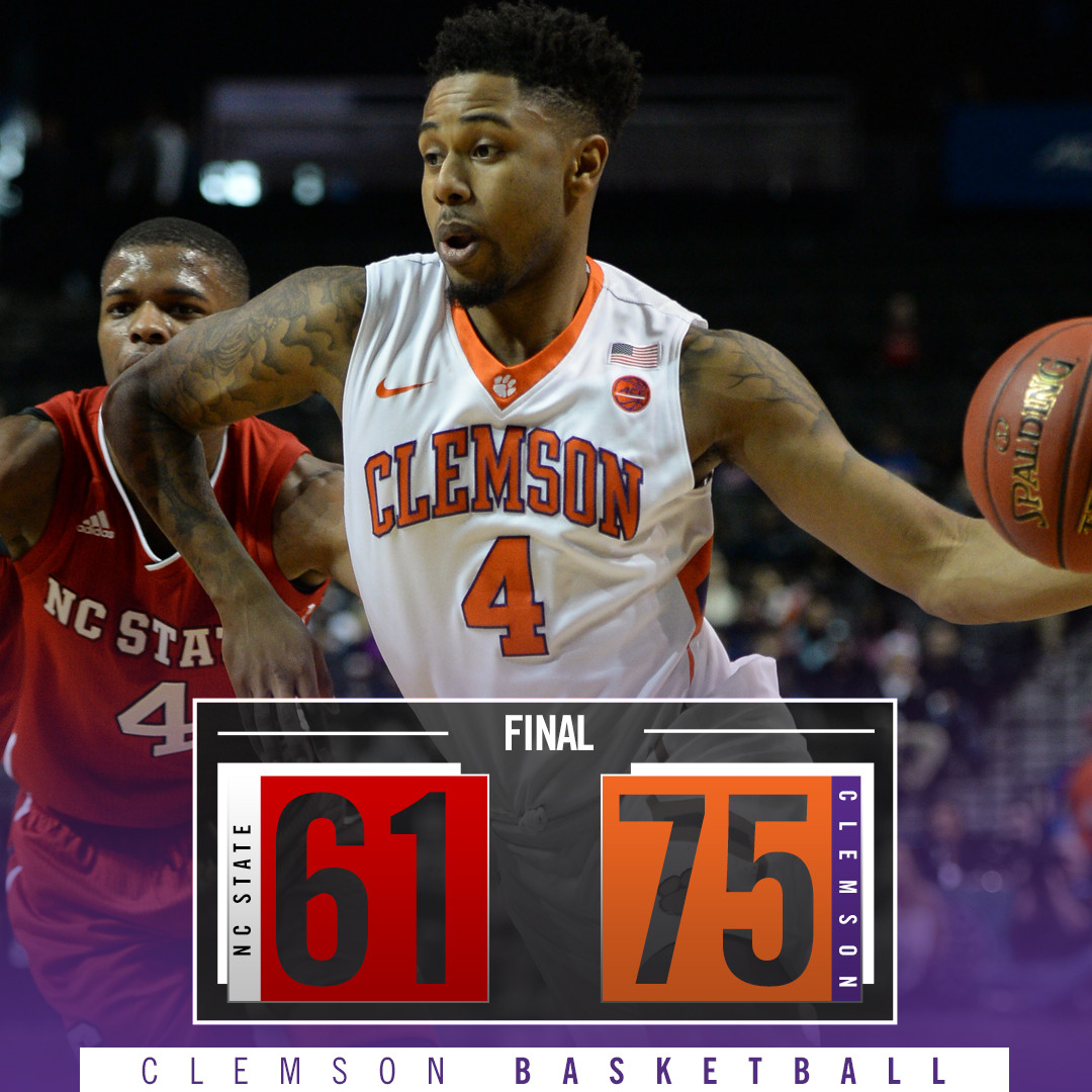 Clemson Tops NC State, 75-61