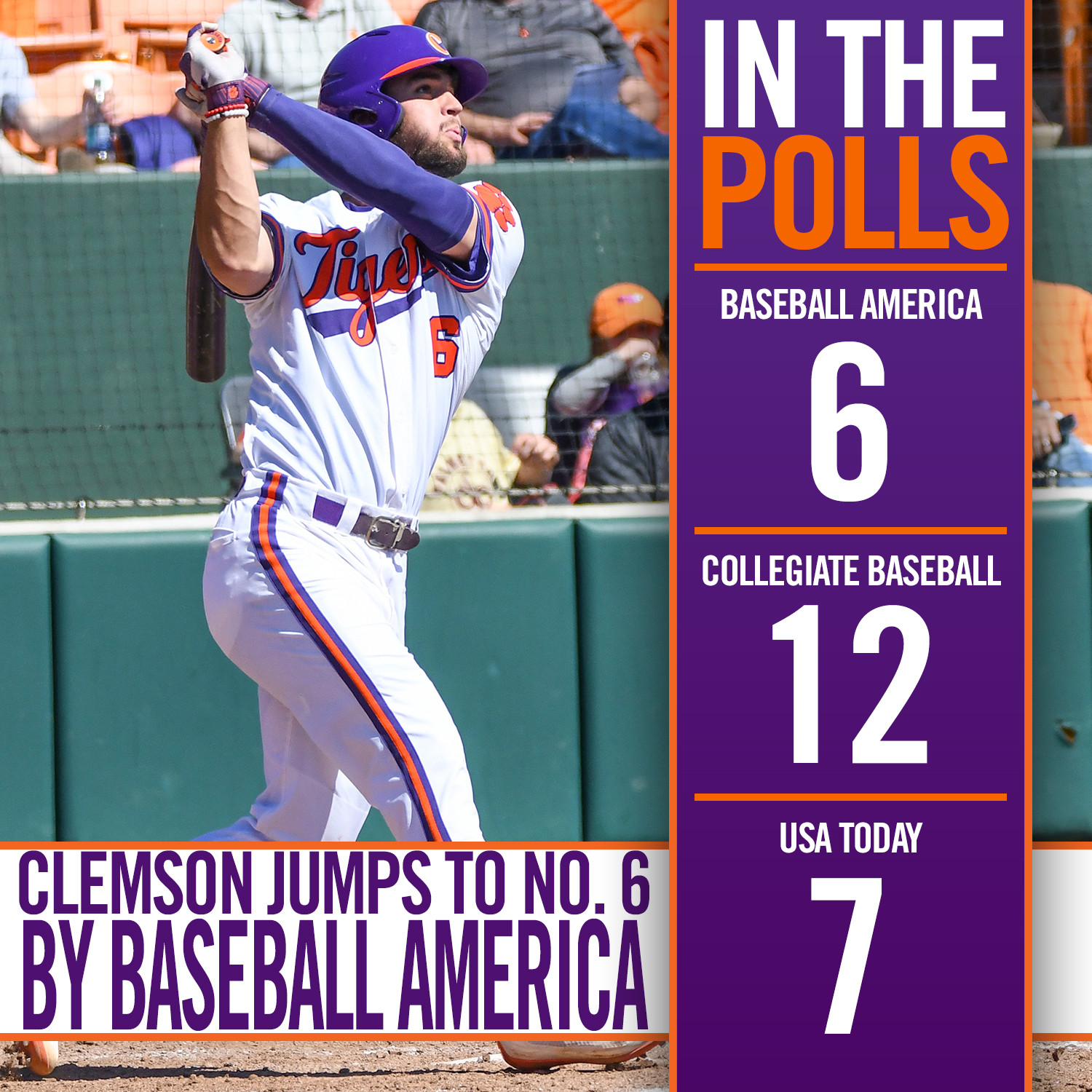 Tigers Move Up in Polls