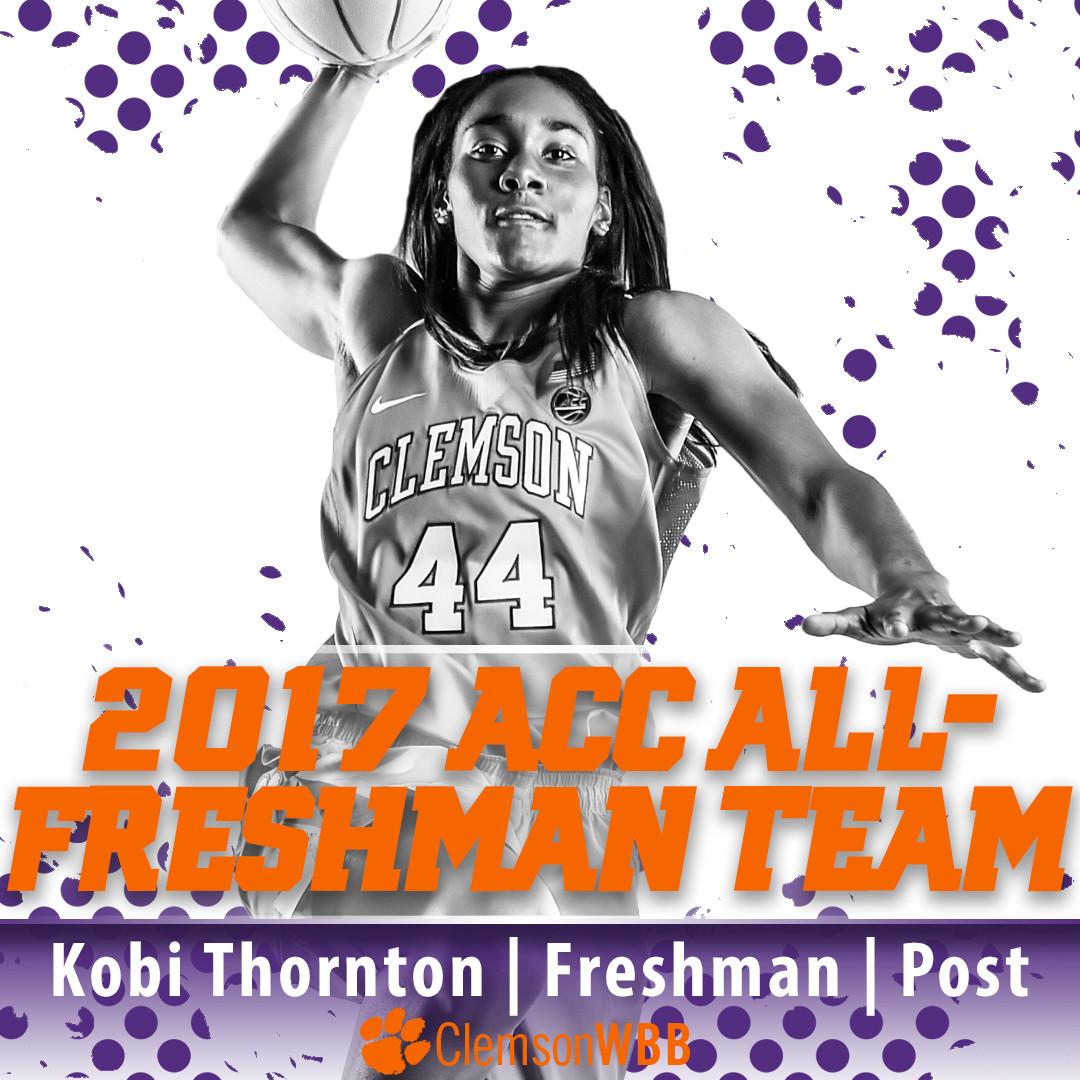 Thornton Named to ACC Coaches' All-Freshman Team