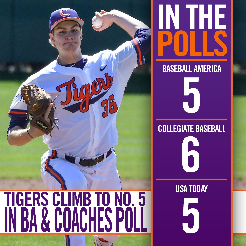 Tigers Climb To No. 5