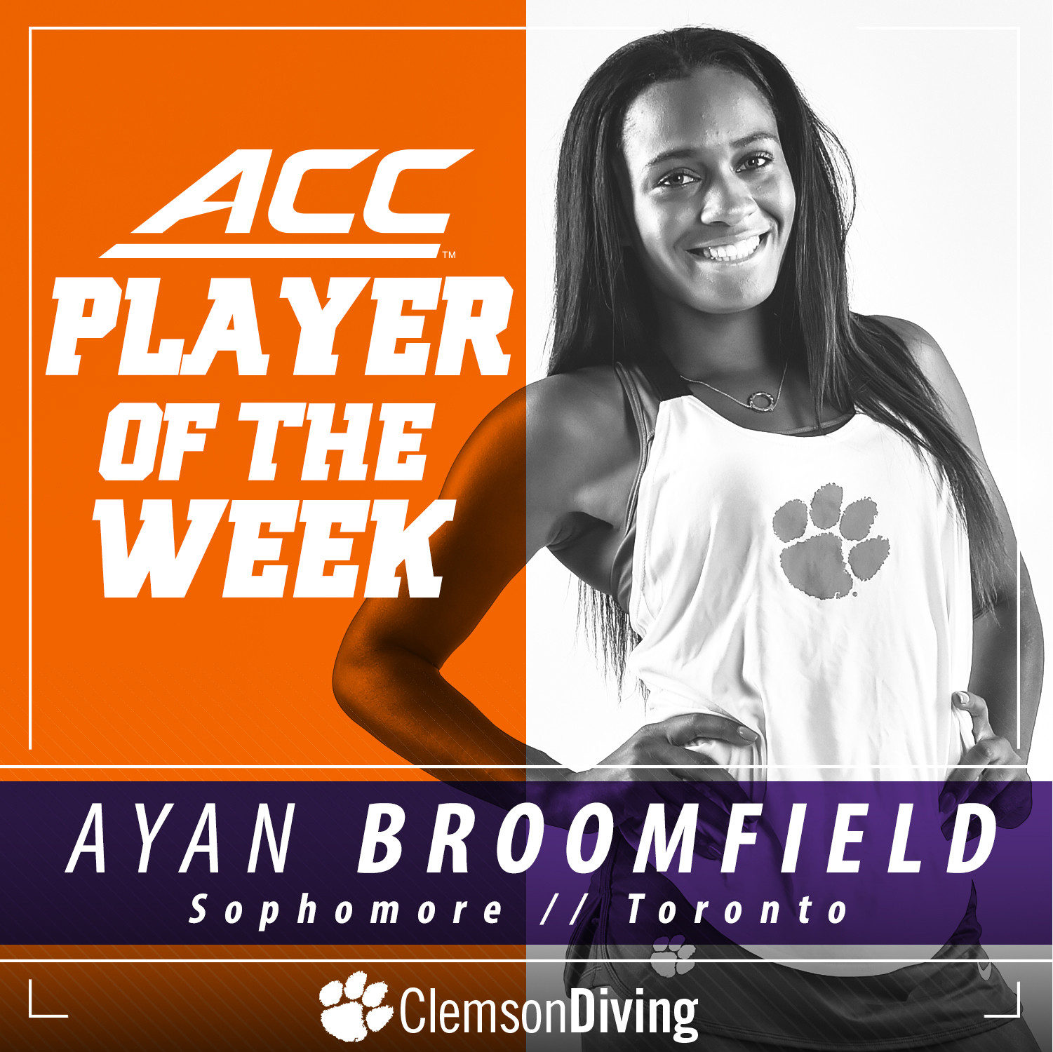 Broomfield Named ACC Player of the Week