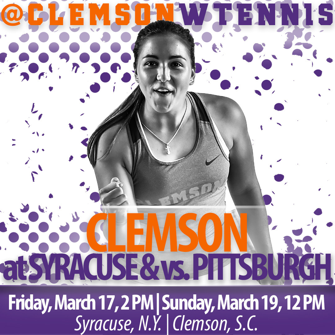 Tigers Face Syracuse Friday on the Road, Pittsburgh Sunday at Home