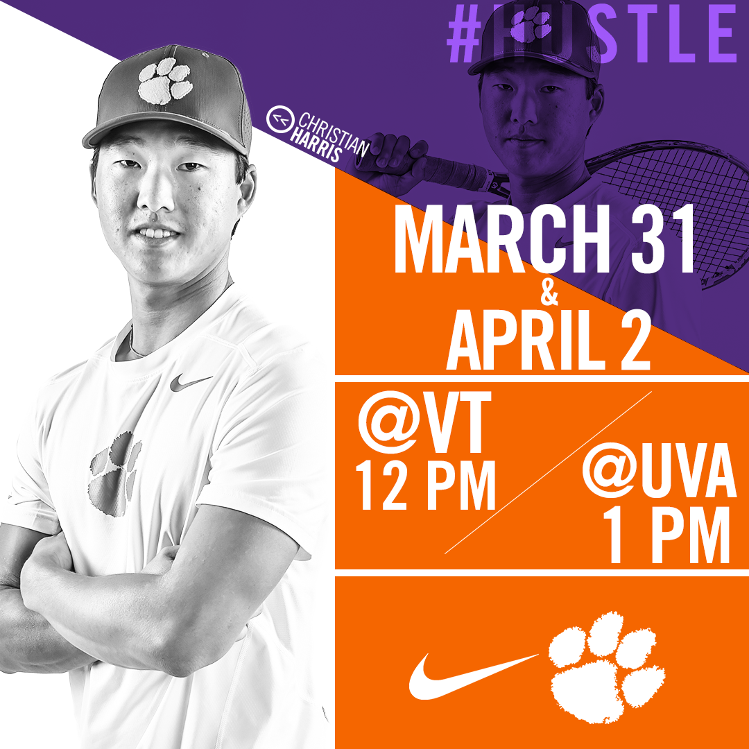 Clemson Travels to Virginia Tech and No. 3 Virginia