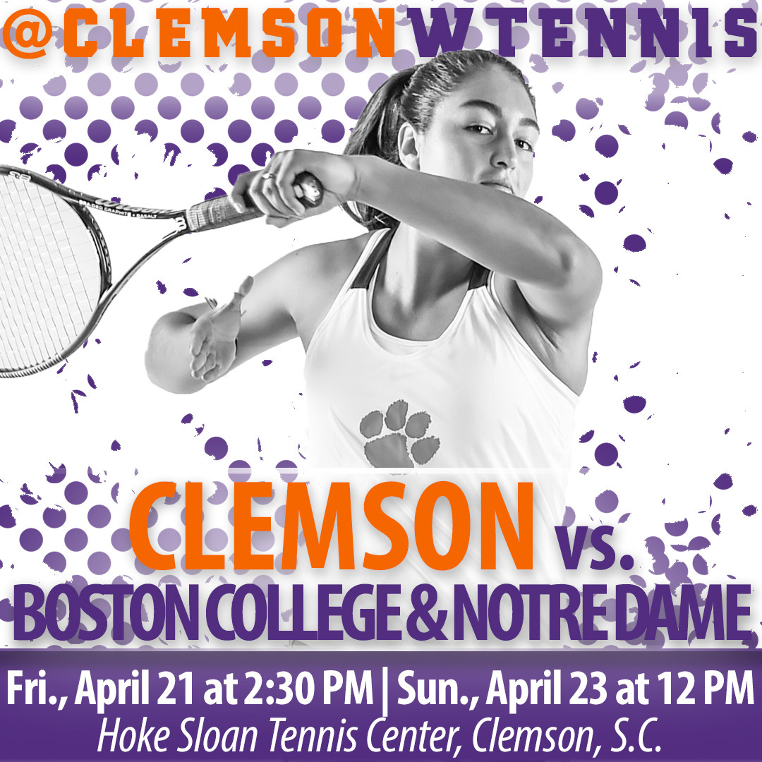 Clemson Concludes Regular Season with Two Matches at Home
