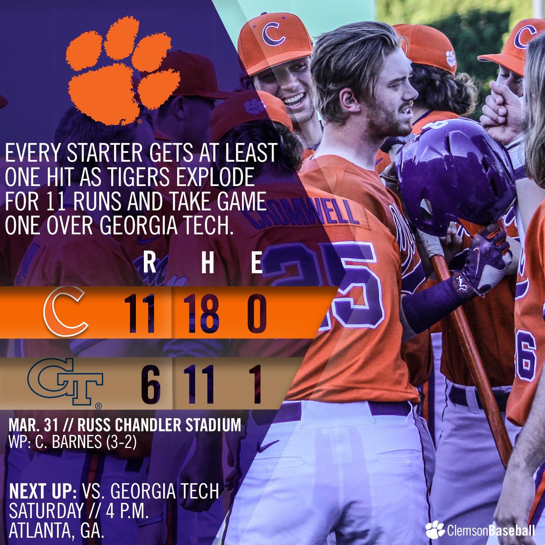 No. 5 Tigers Defeat GT 11-6