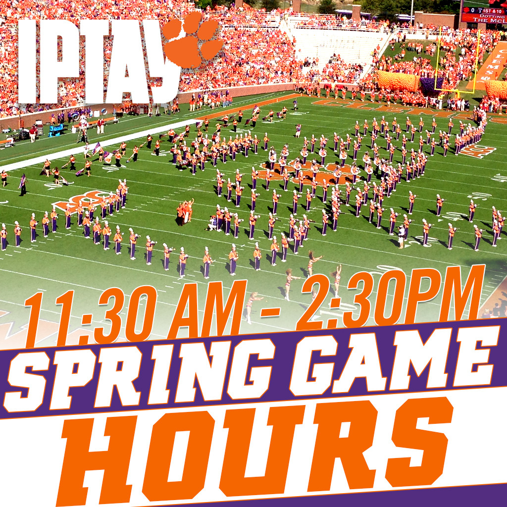 IPTAY Center Open Saturday, April 8 For Spring Football Game