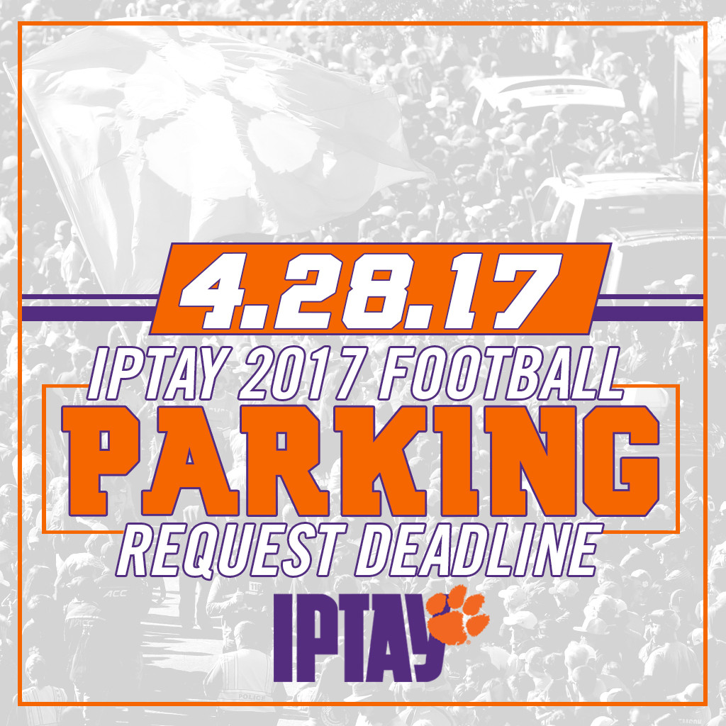 2017 Football Parking Request Deadline Is This Friday, April 28