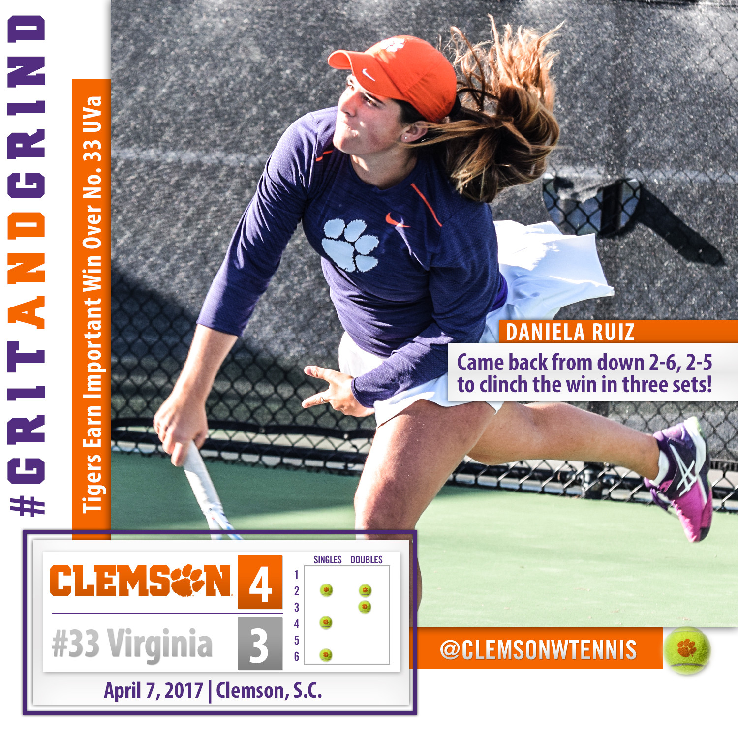 Tigers Earn Important Win Over No. 33 Virginia Friday