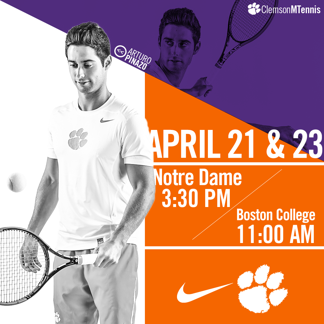 Clemson Concludes Regular Season at Notre Dame and Boston College