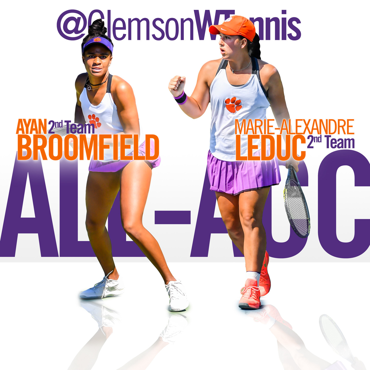 Broomfield & Leduc Named to 2017 All-ACC Second Team
