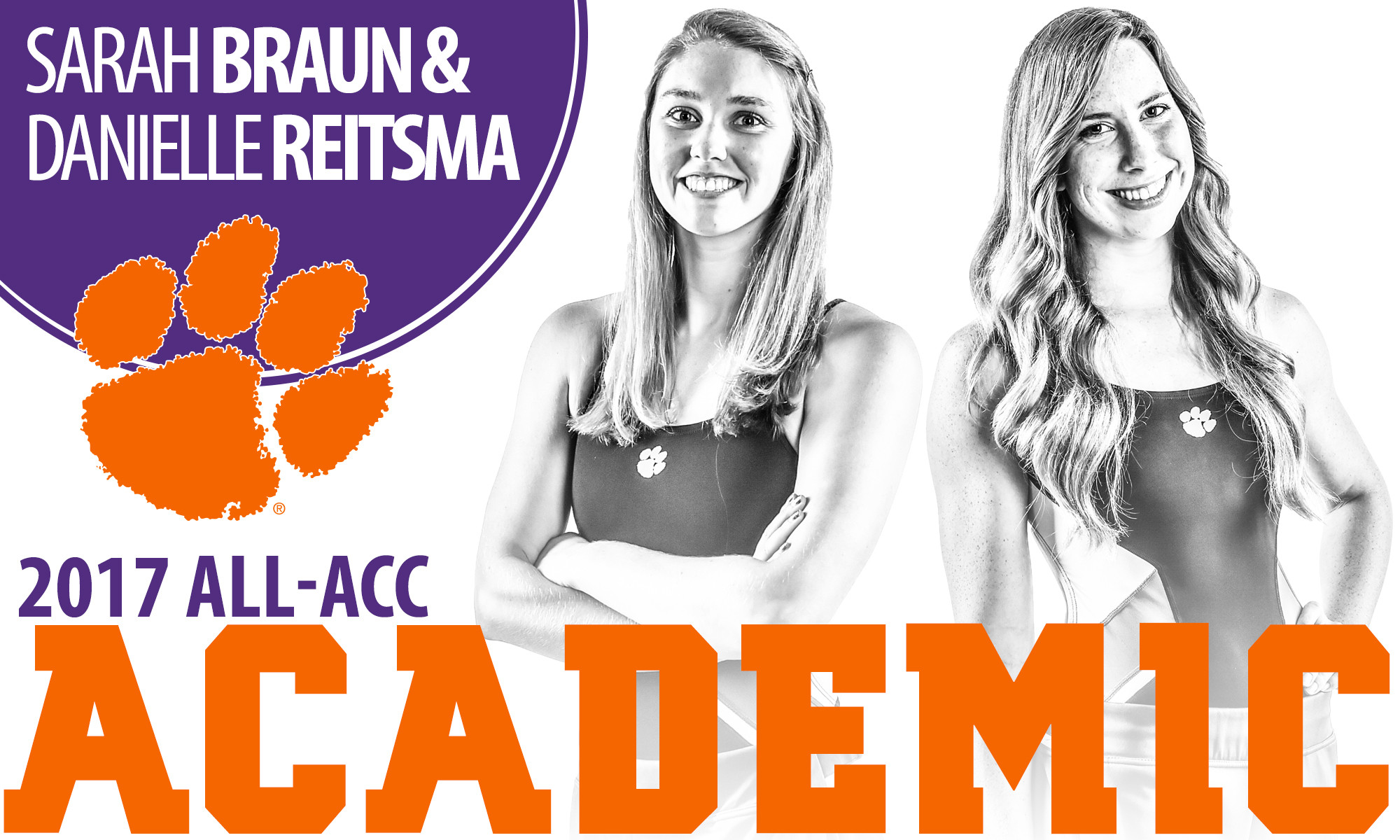 Braun & Reitsma Named to 2017 All-ACC Academic Team
